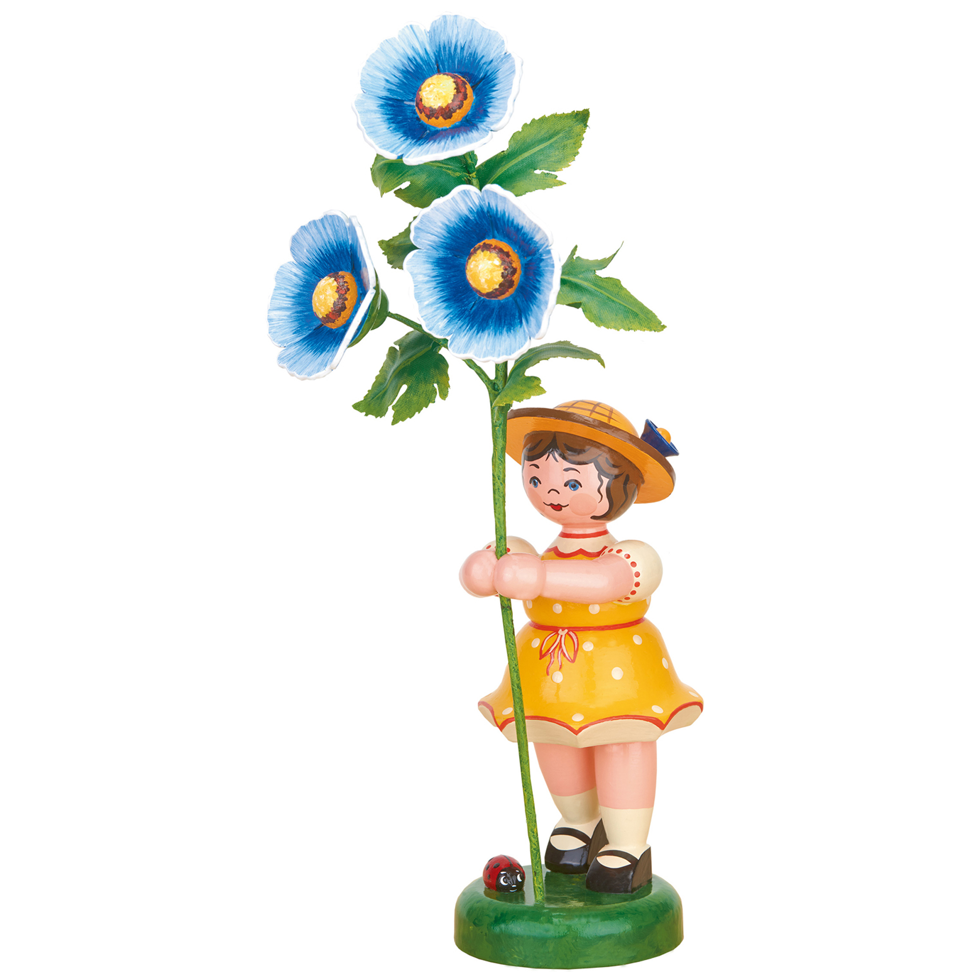 Blumenkind Mädchen mit Malve, groß