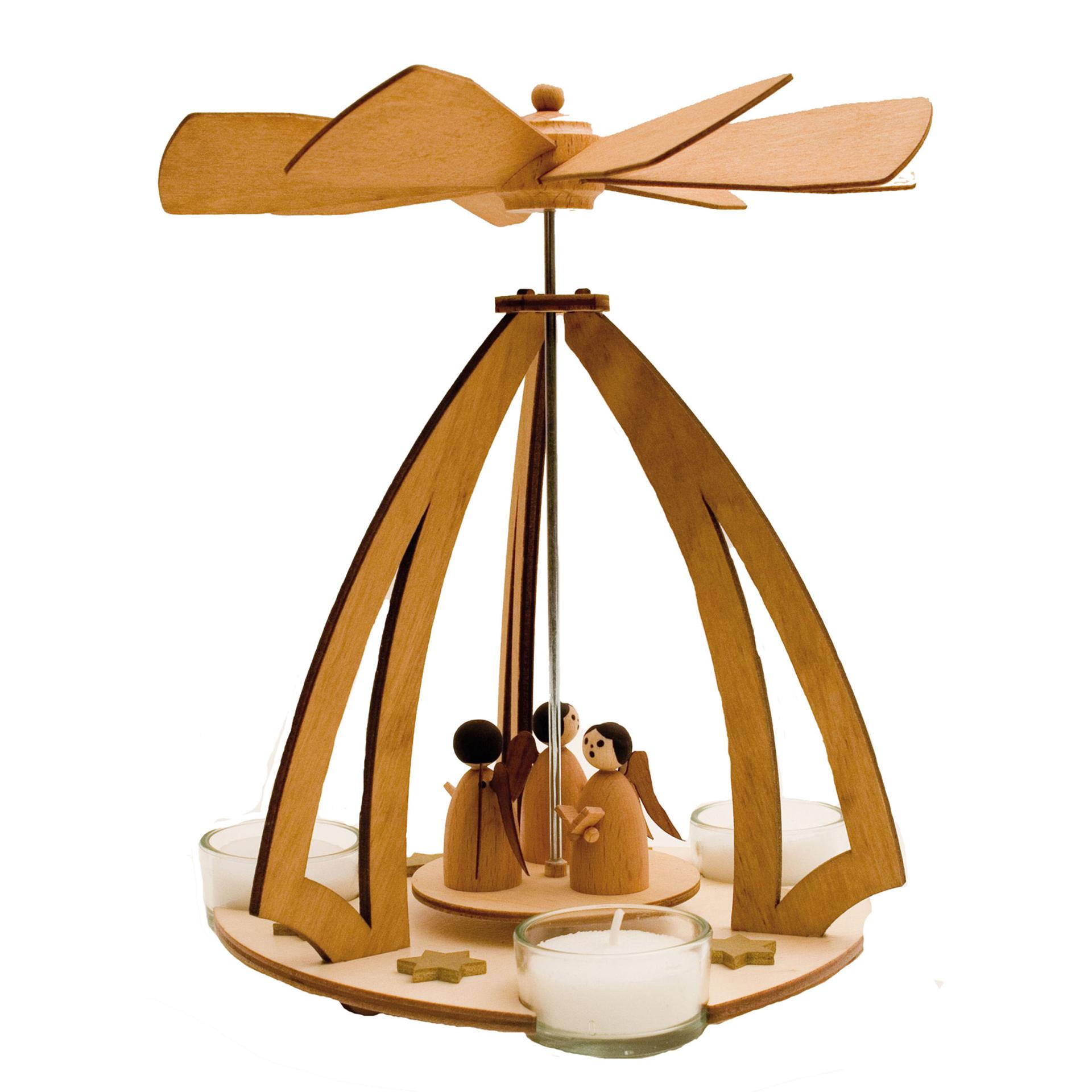 Teelichtpyramide mit Engeln