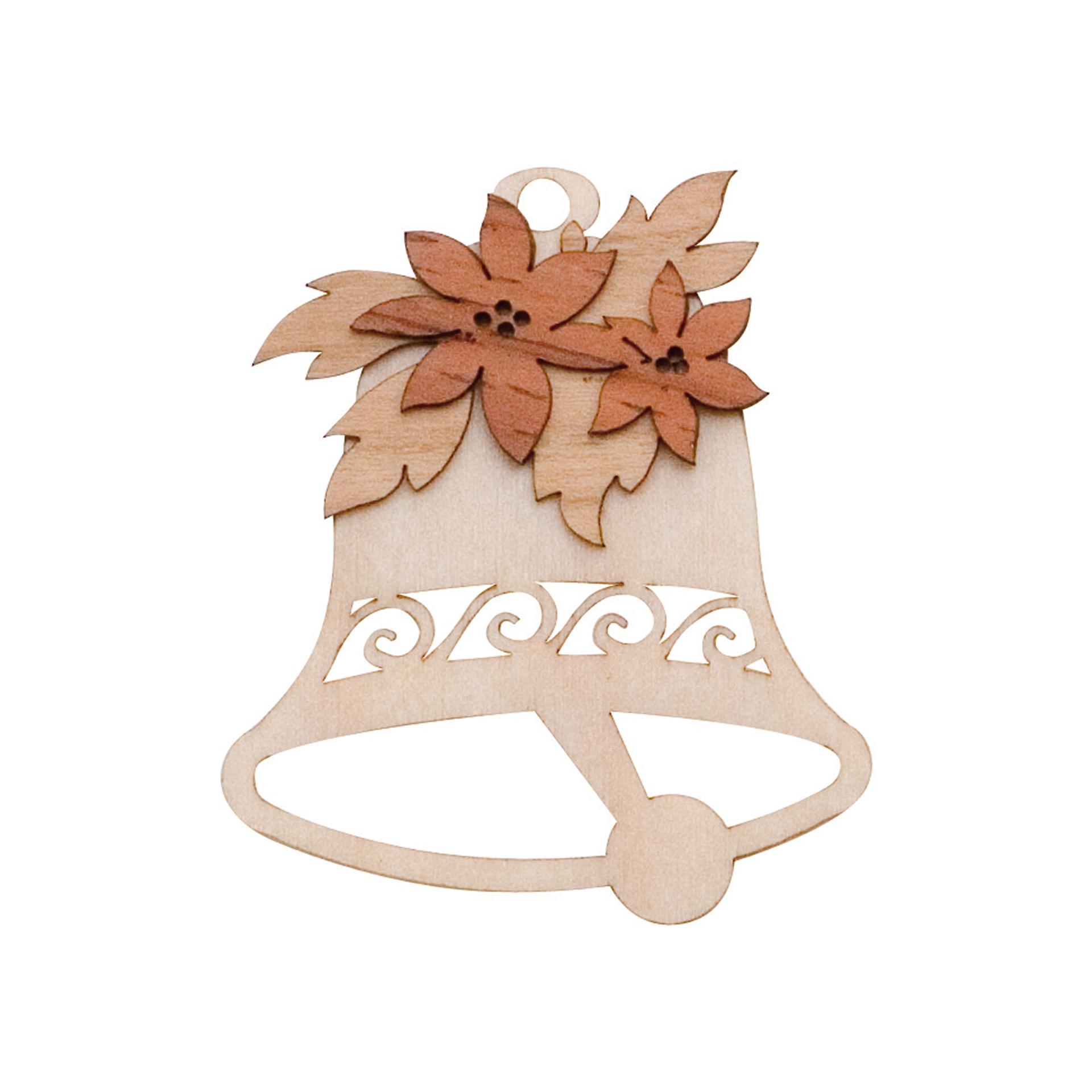 Baumschmuck Glocke mit Weihnachtsstern