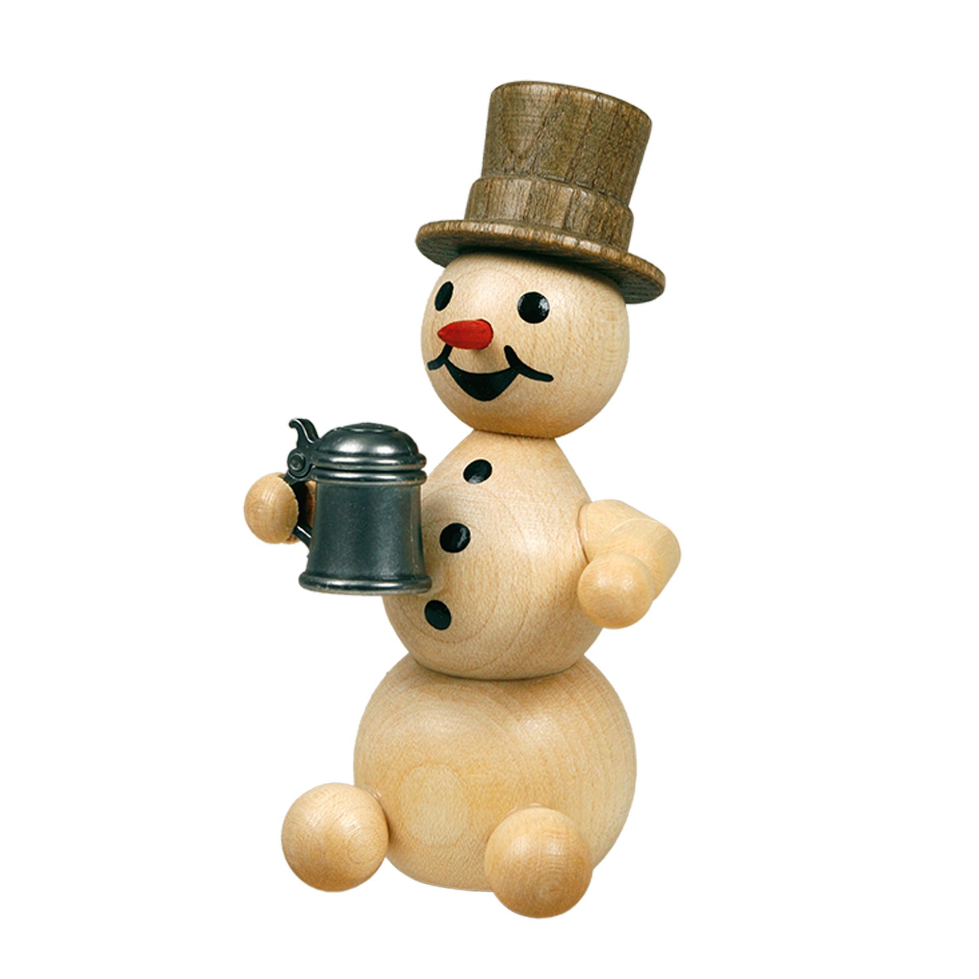 Schneemann mit Krug