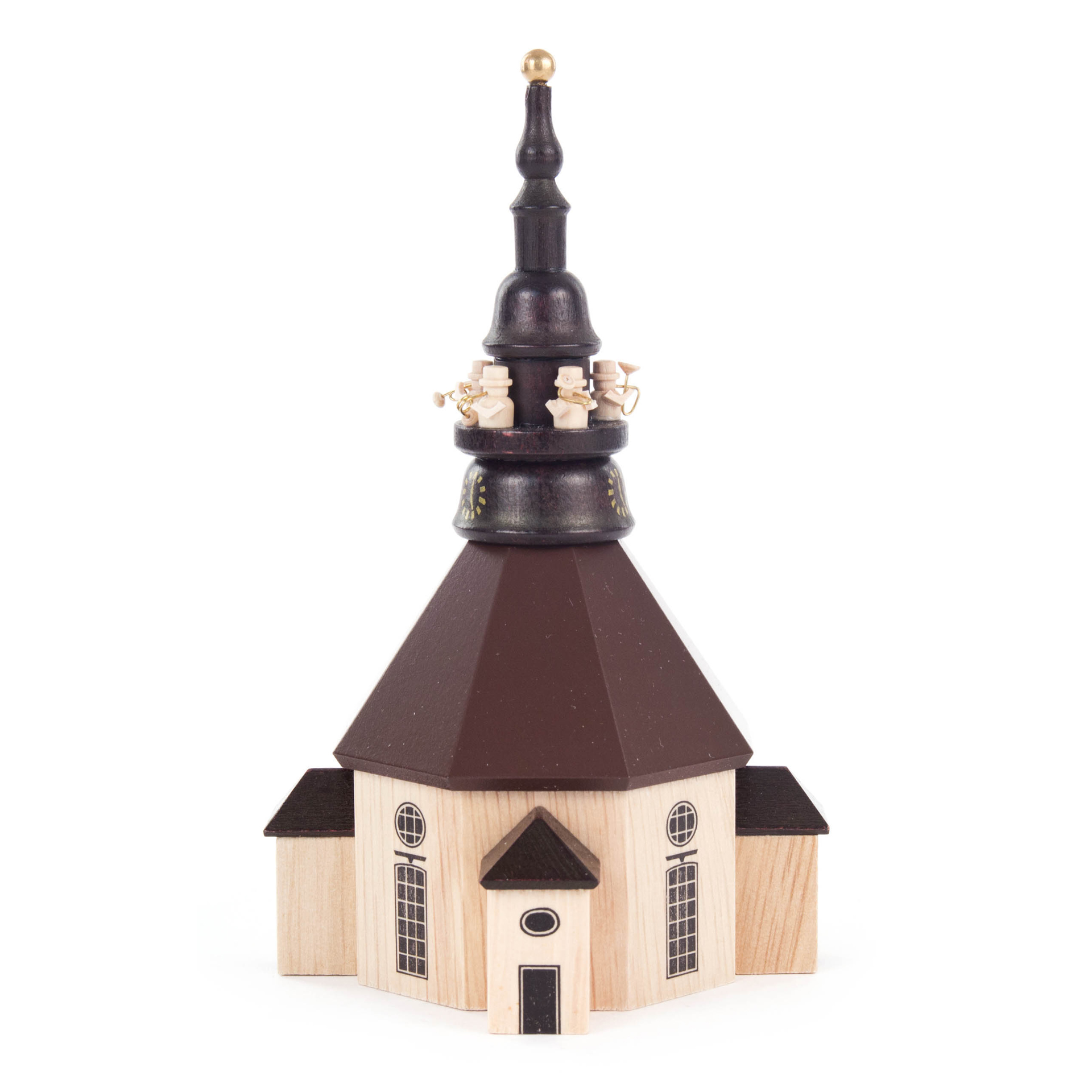 Seiffener Kirche mit Turmbläsern