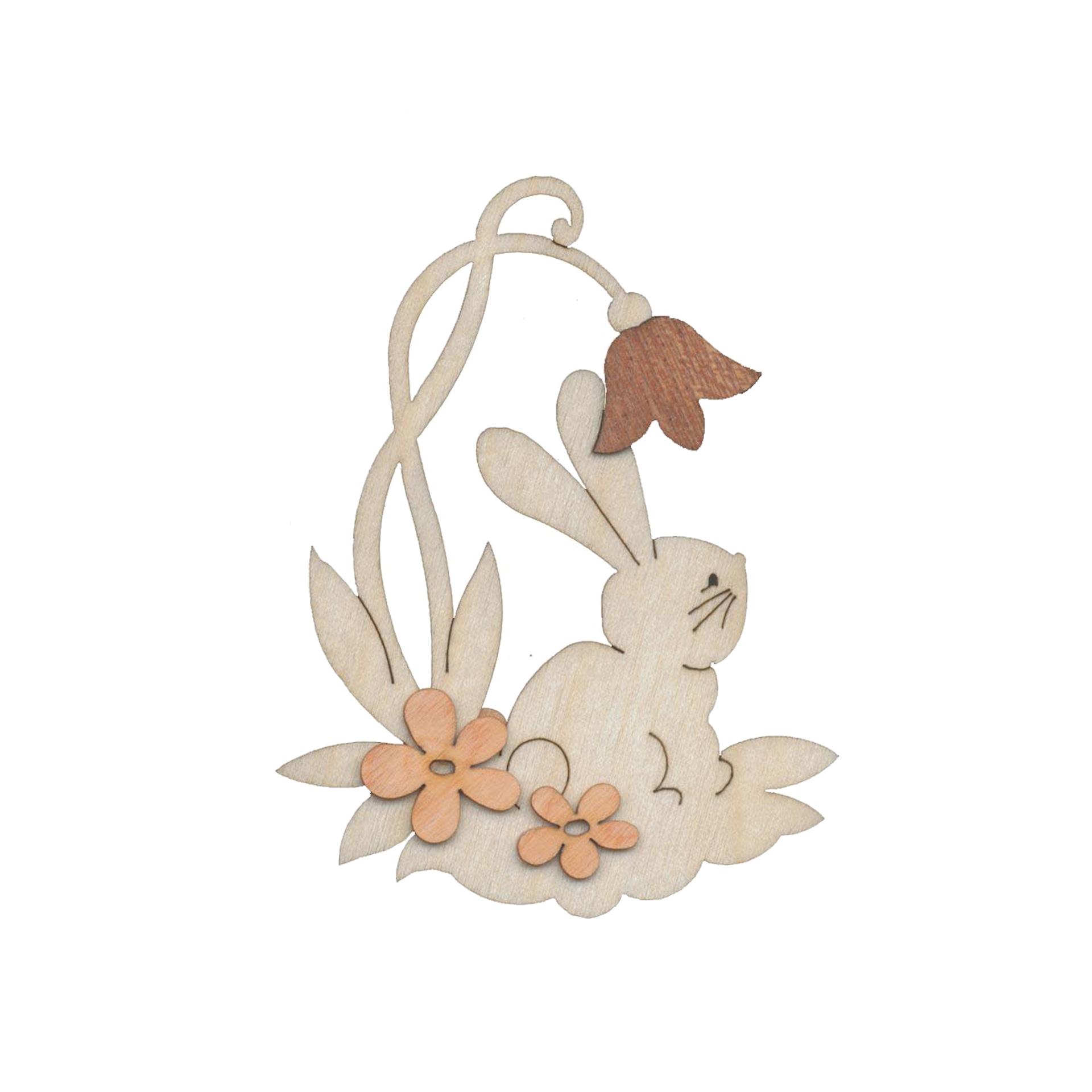 Baumschmuck Hase mit Blume