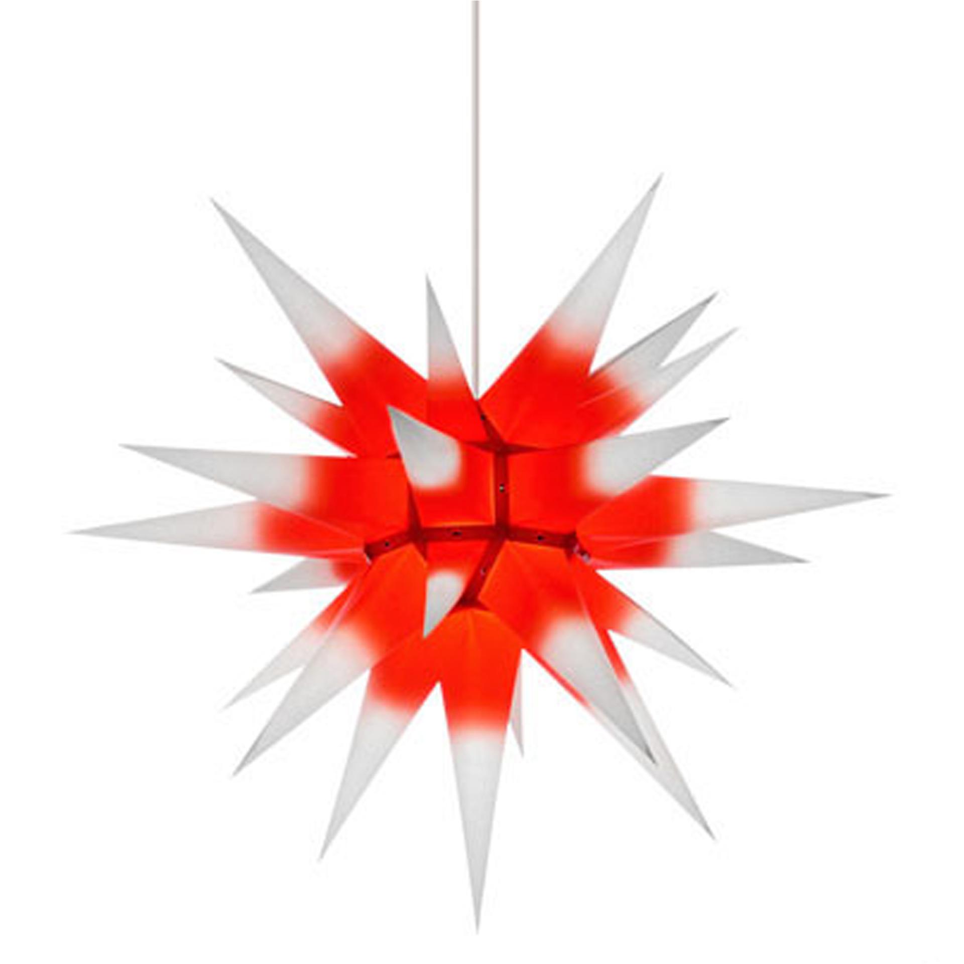 Herrnhuter Innenstern I6, weiß mit rotem Kern