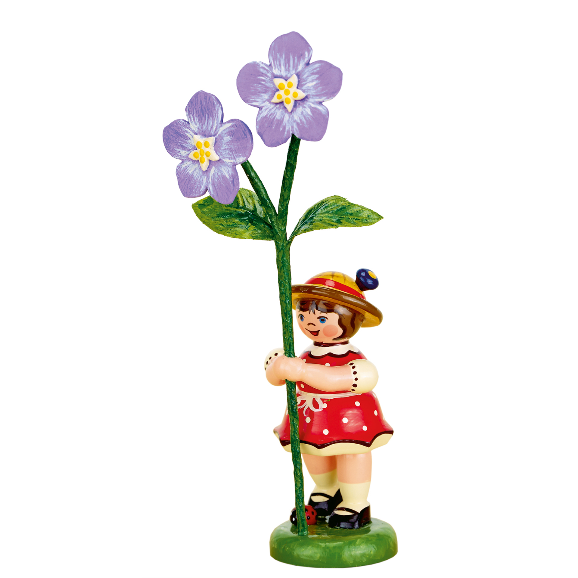 Blumenkind Mädchen mit Flachs