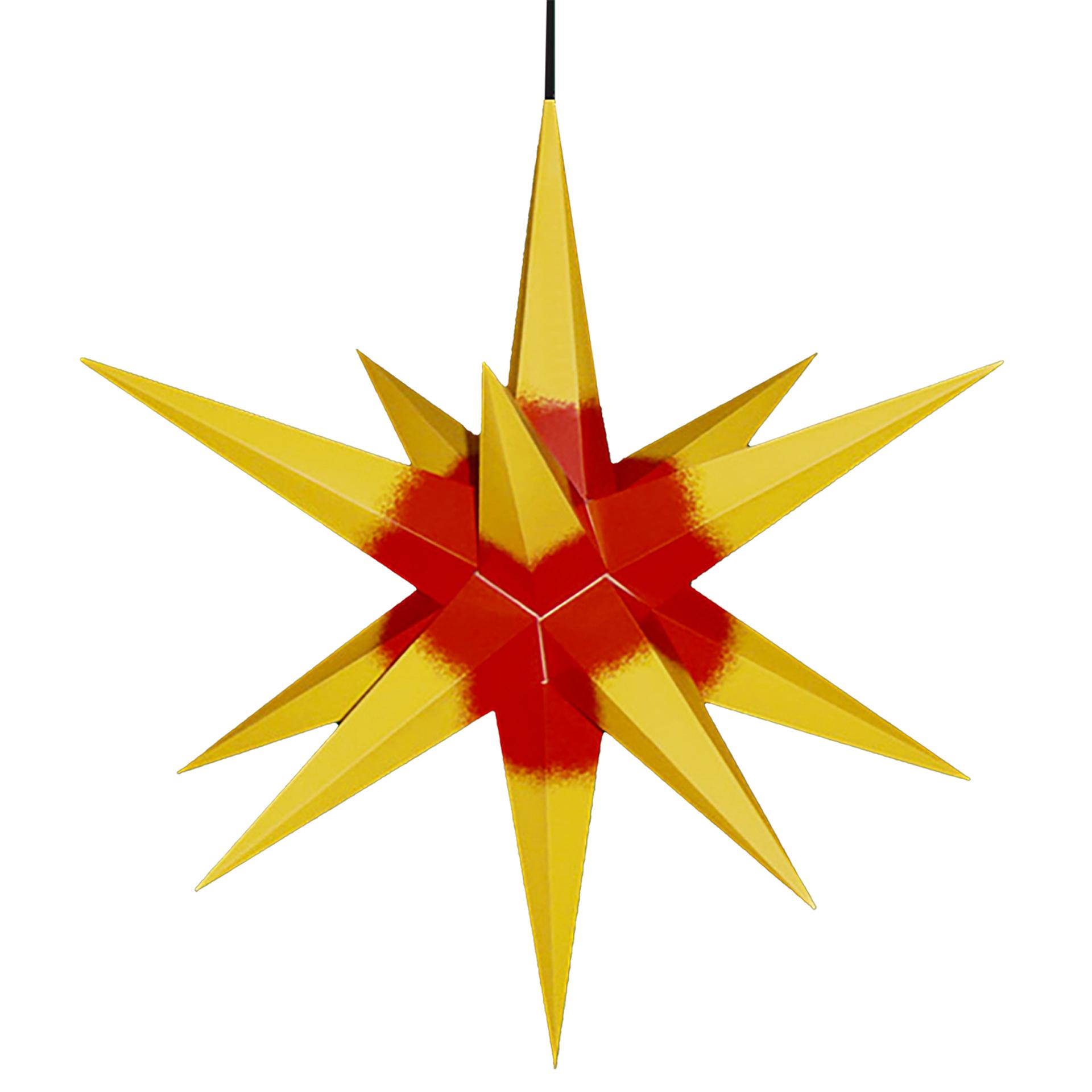 Haßlauer Außenstern, gelb/rot