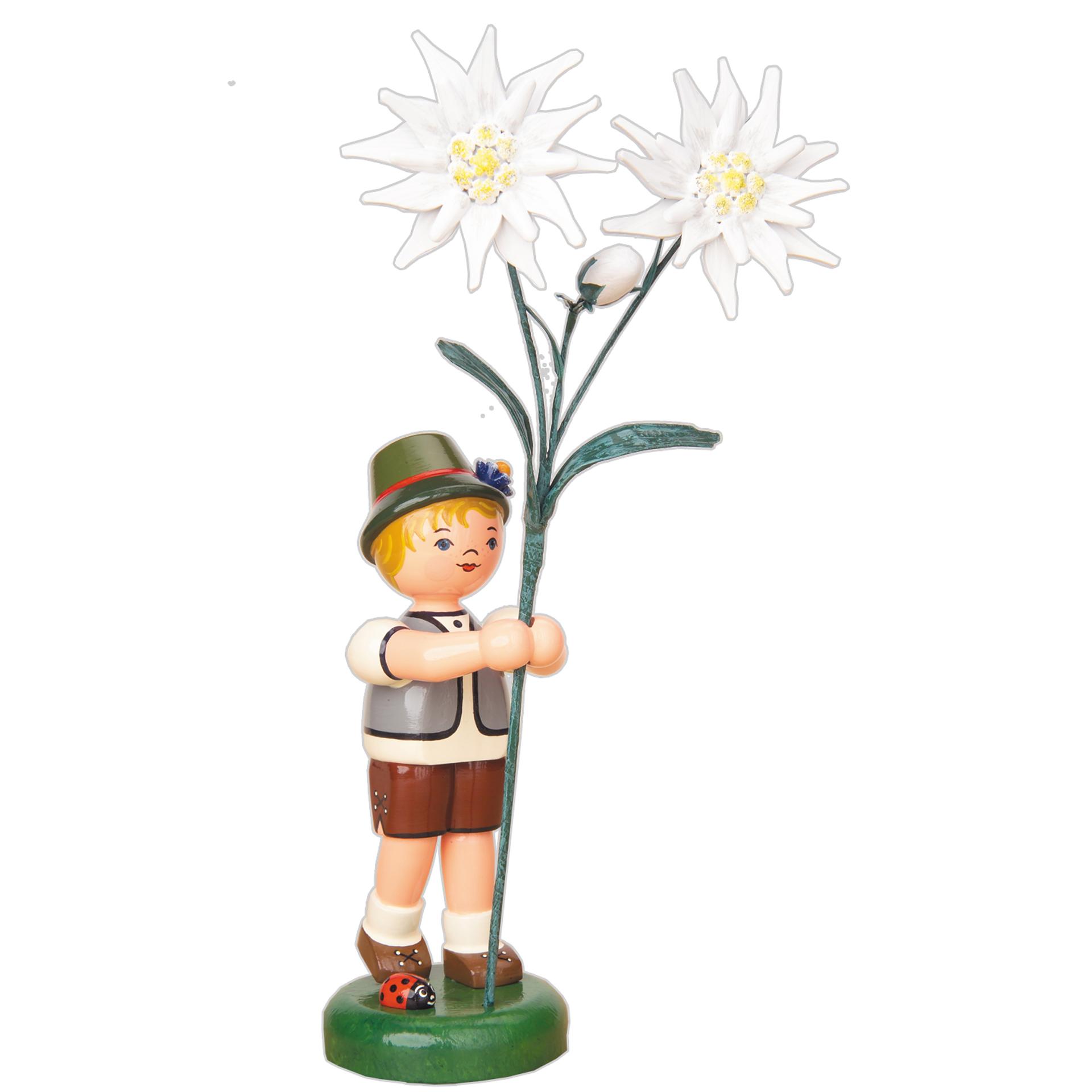 Blumenkind Junge mit Edelweiß, groß