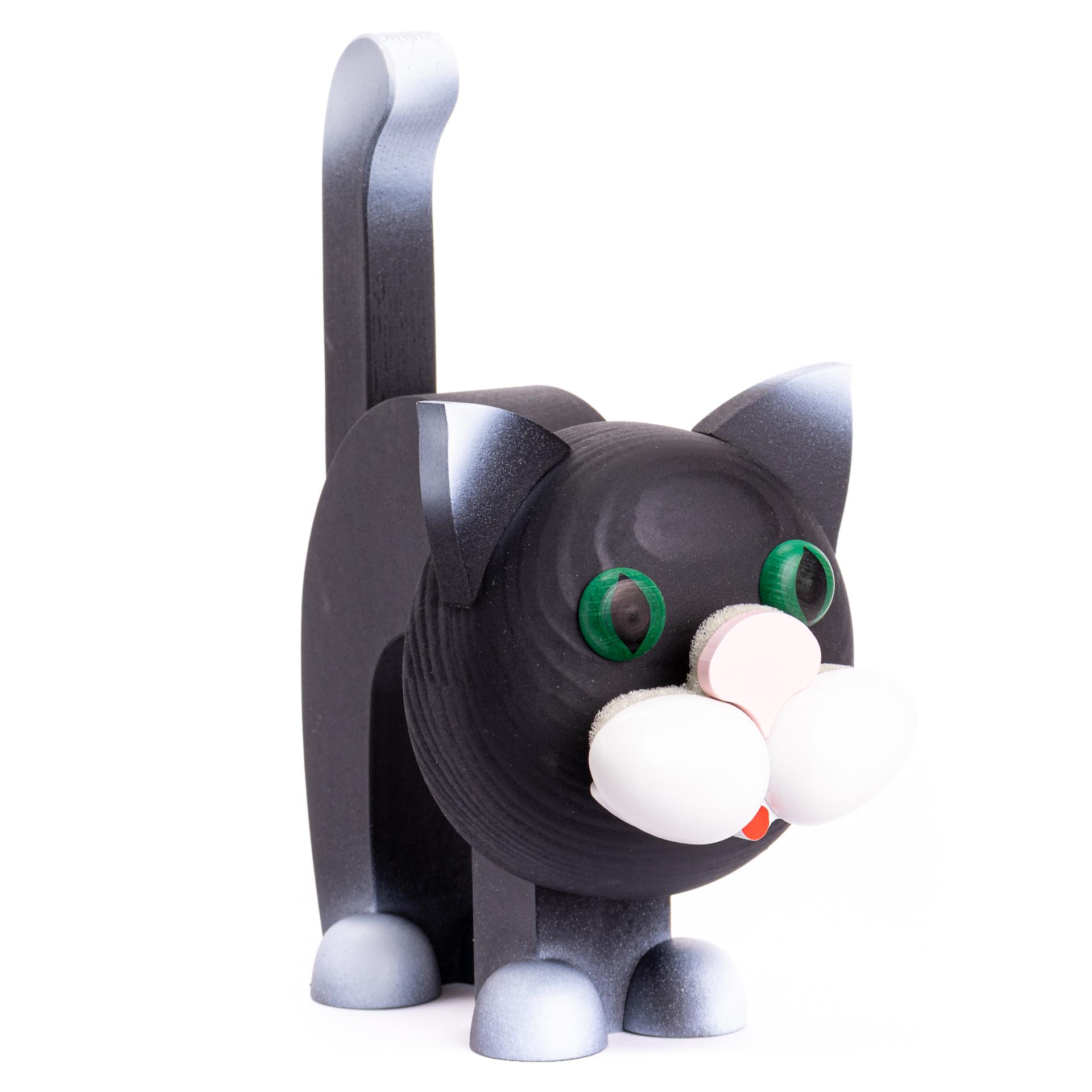 Brillenständer Katze schwarz