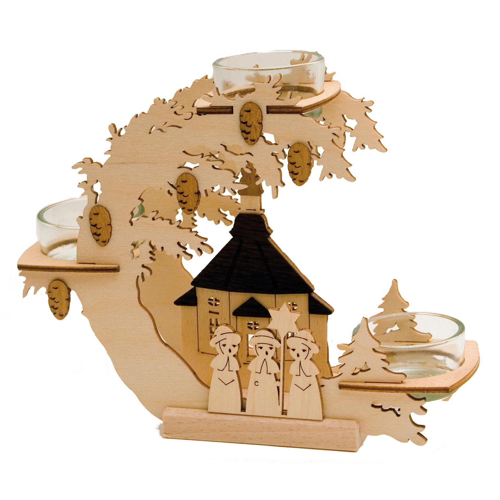 Teelichtkranz Seiffener Kirche