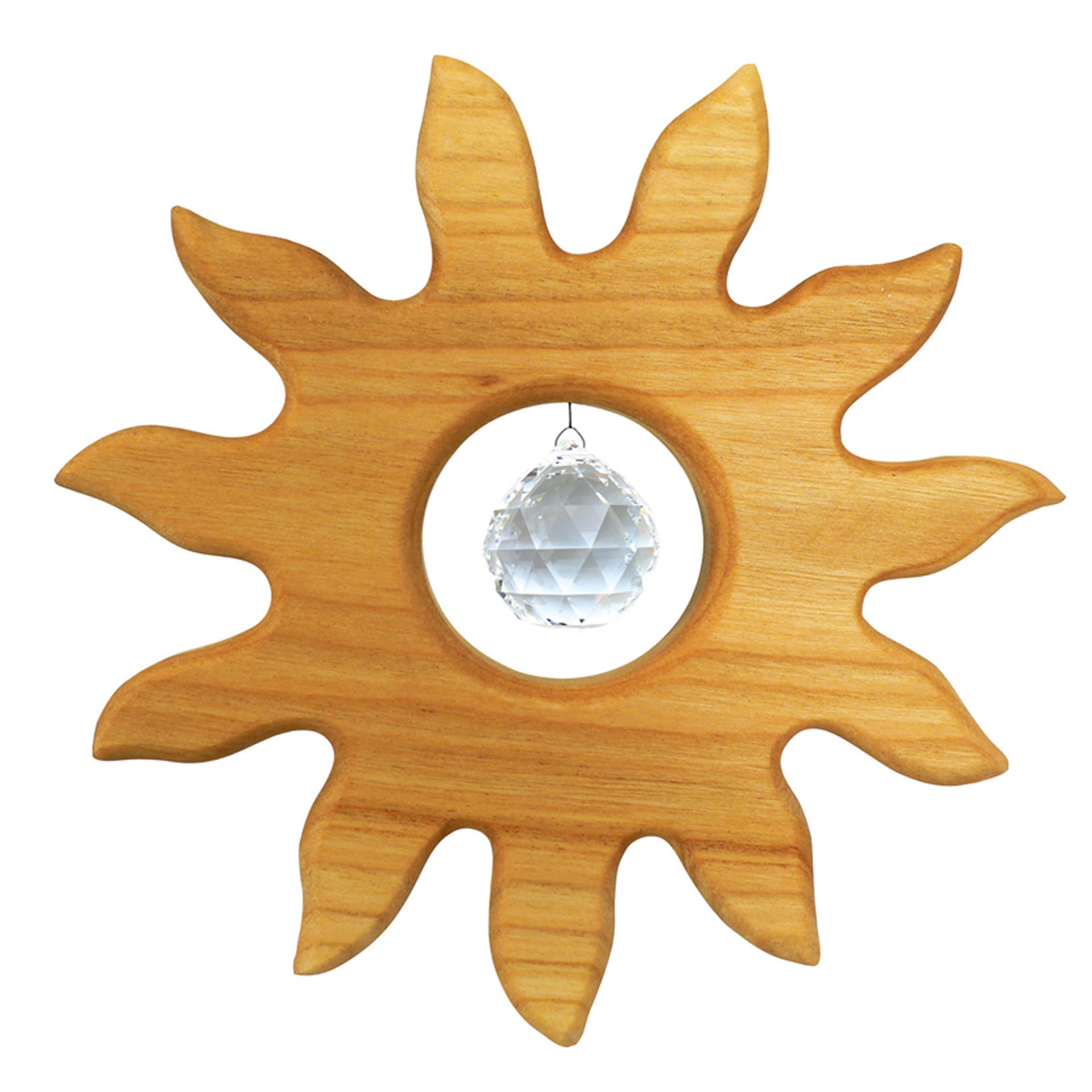 Fensterschmuck Kleine Sonne, mit Kristall