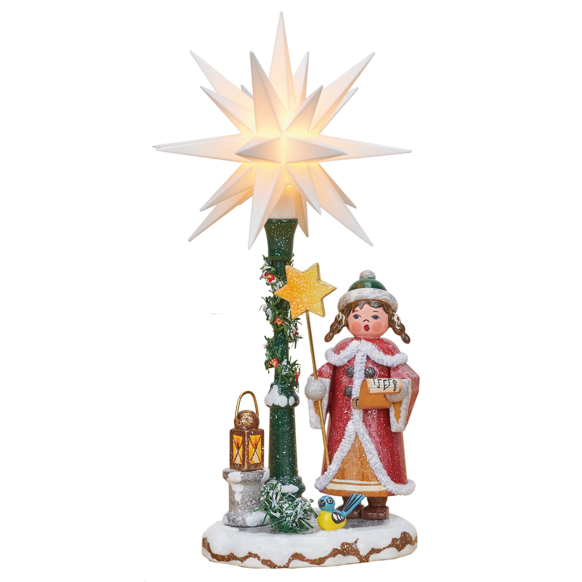 Winterkind Herrnhuter Sternsinger, elektrisch beleuchtet