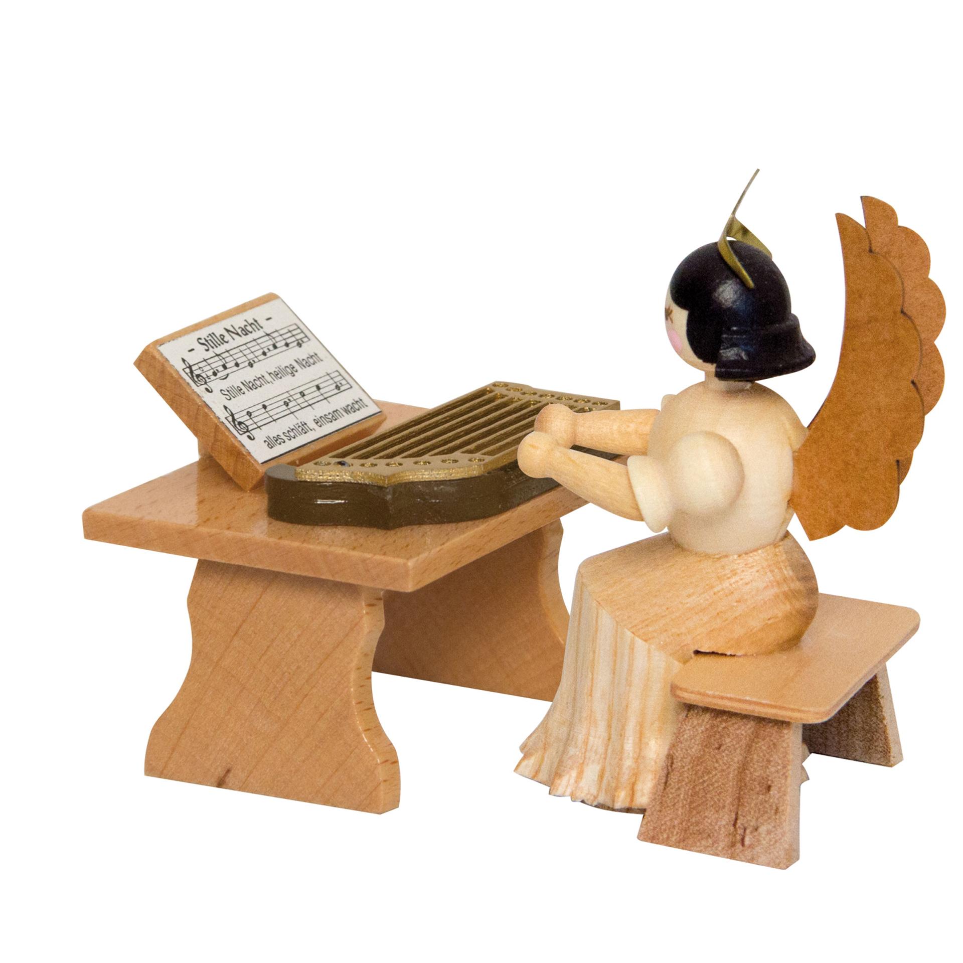 Engel mit Zither, 7cm