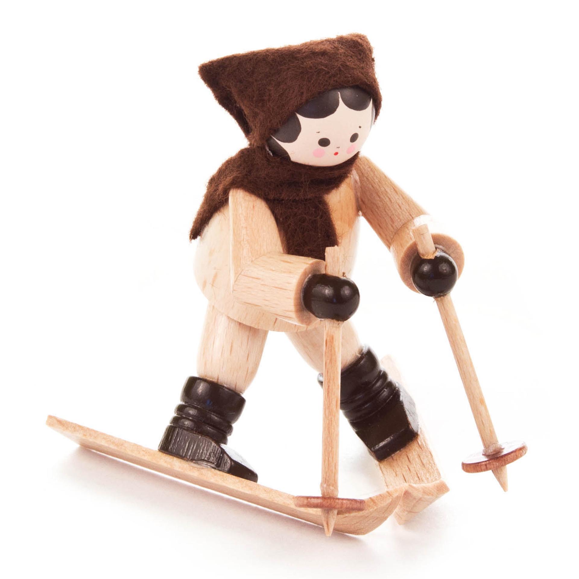 Skiläuferin Abfahrt, mini