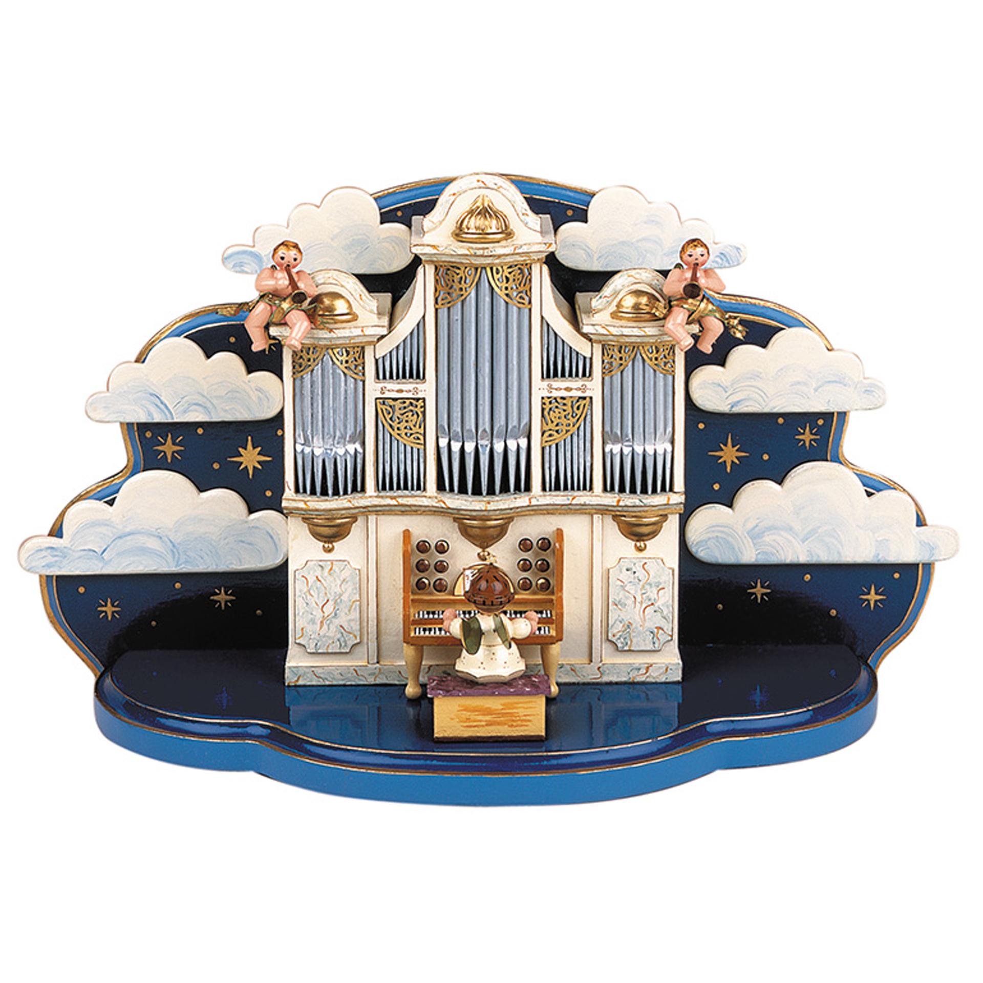 Orgel mit kleiner Wolke, mit Spielwerk