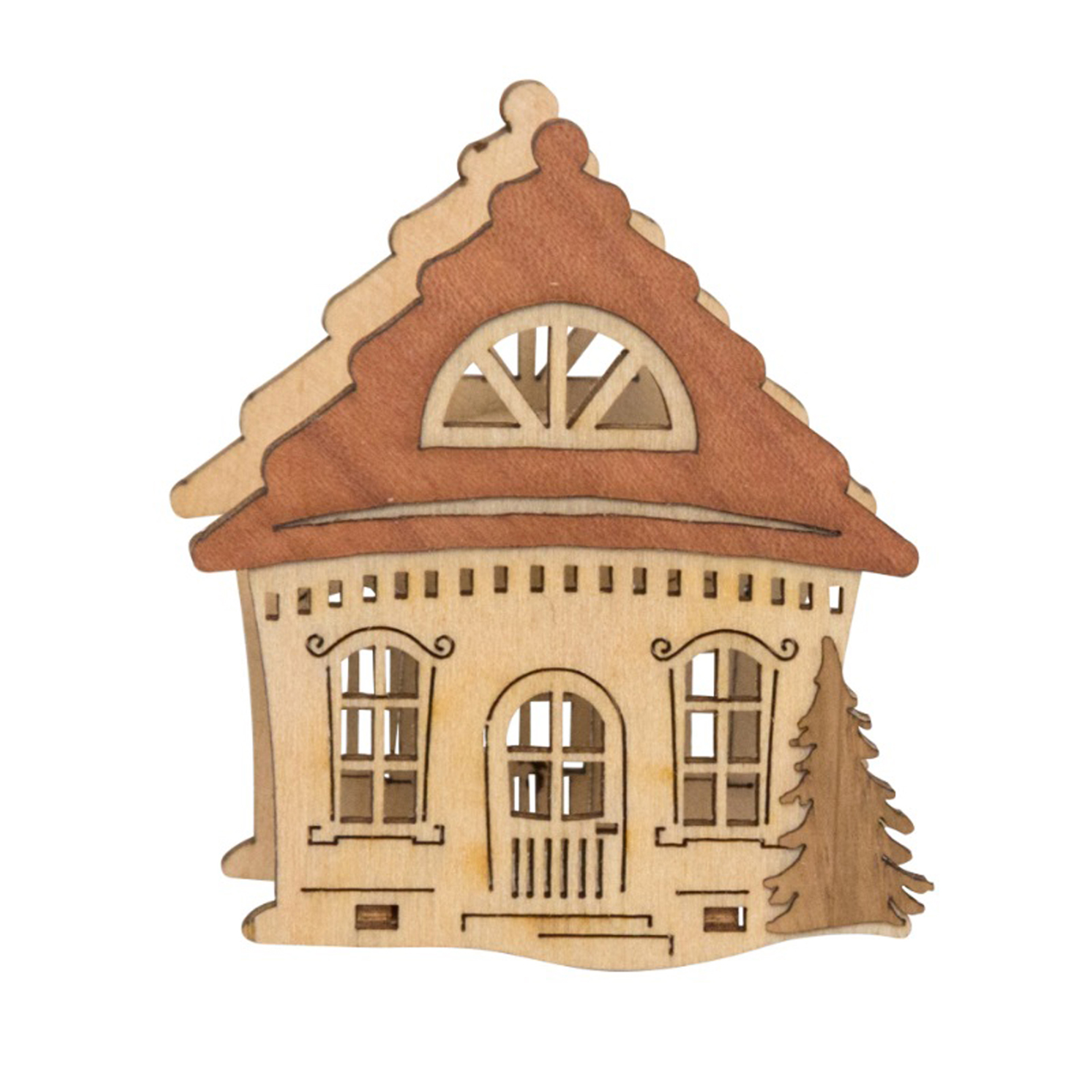 Kerzenaufstecker Haus mit Baum