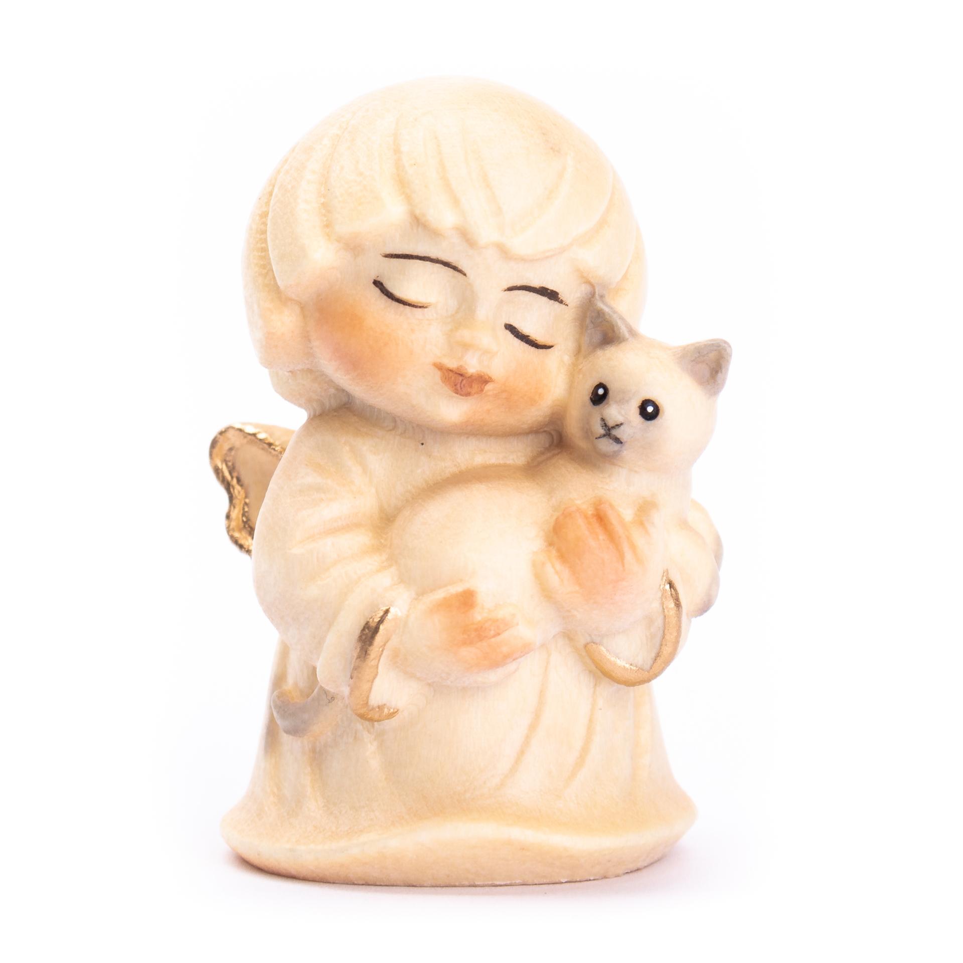 Engel mit Katze, alabaster