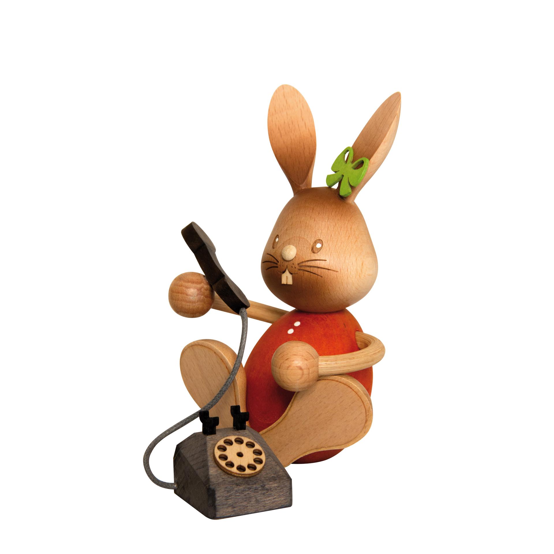 Stupsi Hase mit Telefon