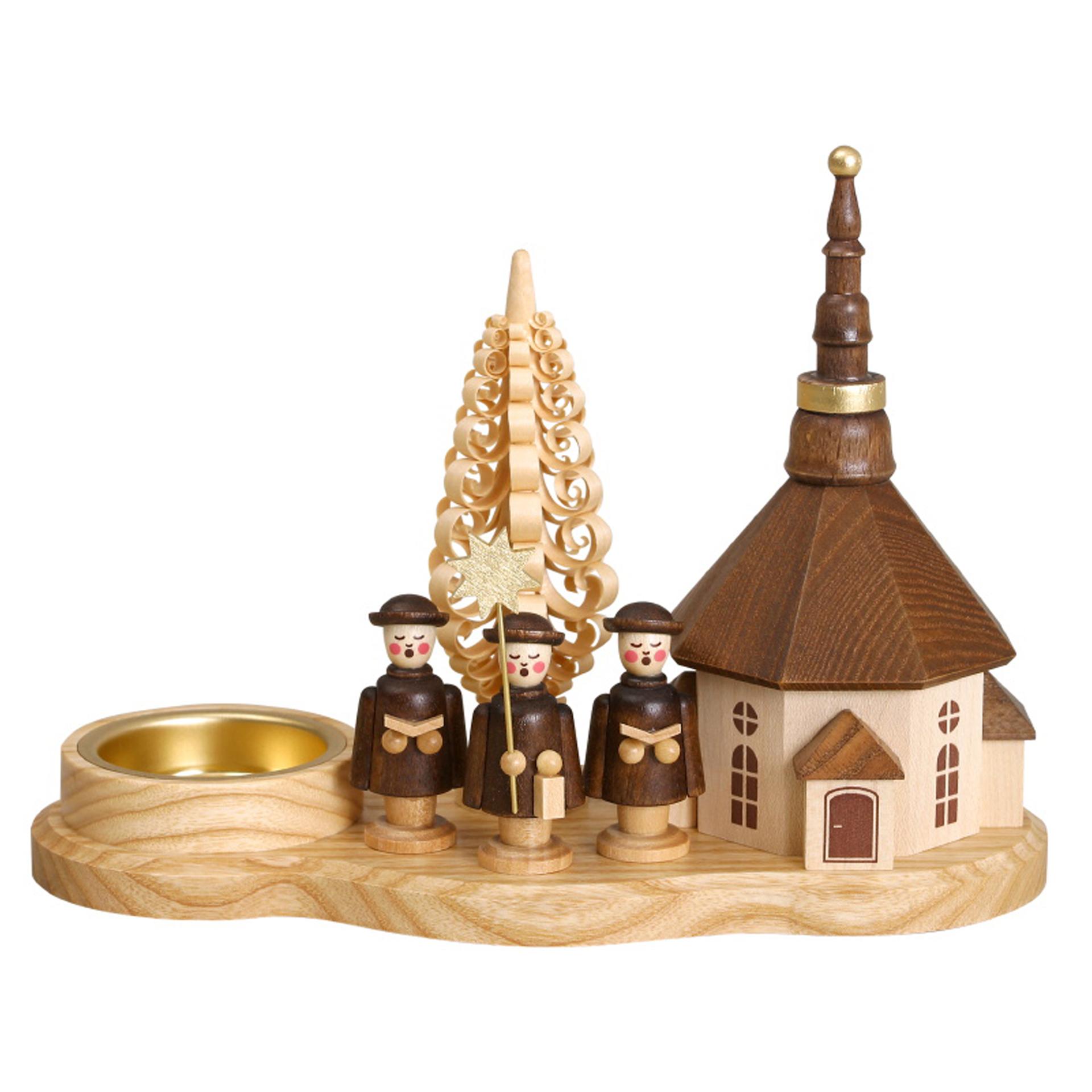 Teelichthalter Kurrende mit Seiffener Kirche