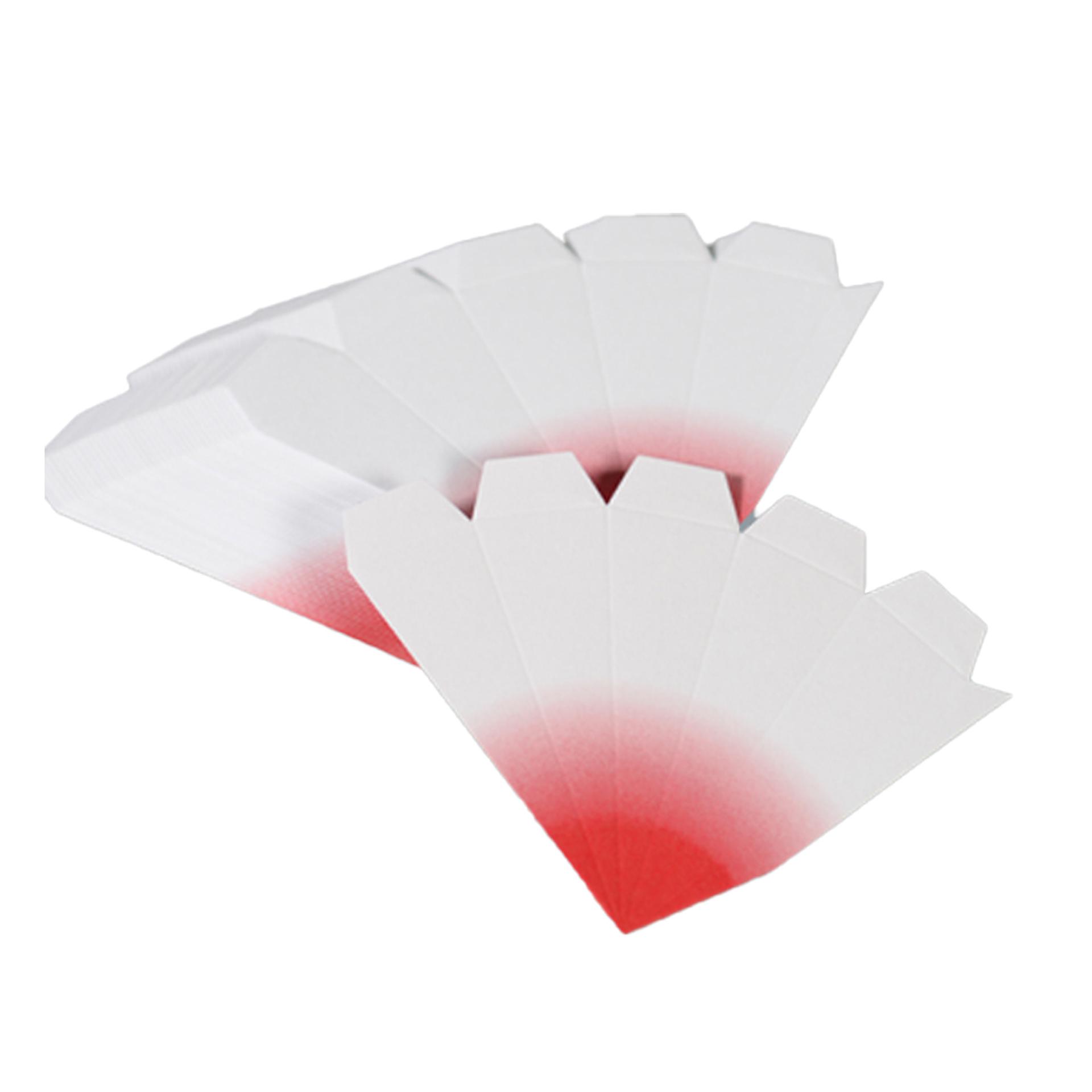 Bausatz für Adventssterne, 3er Set weiß mit roten Spitzen