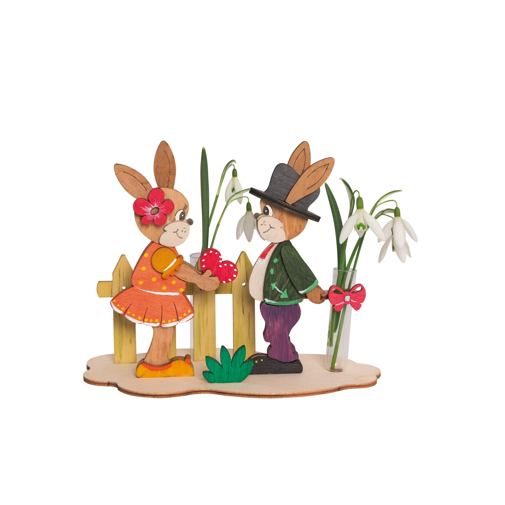 Bastelset Hasen mit Blume