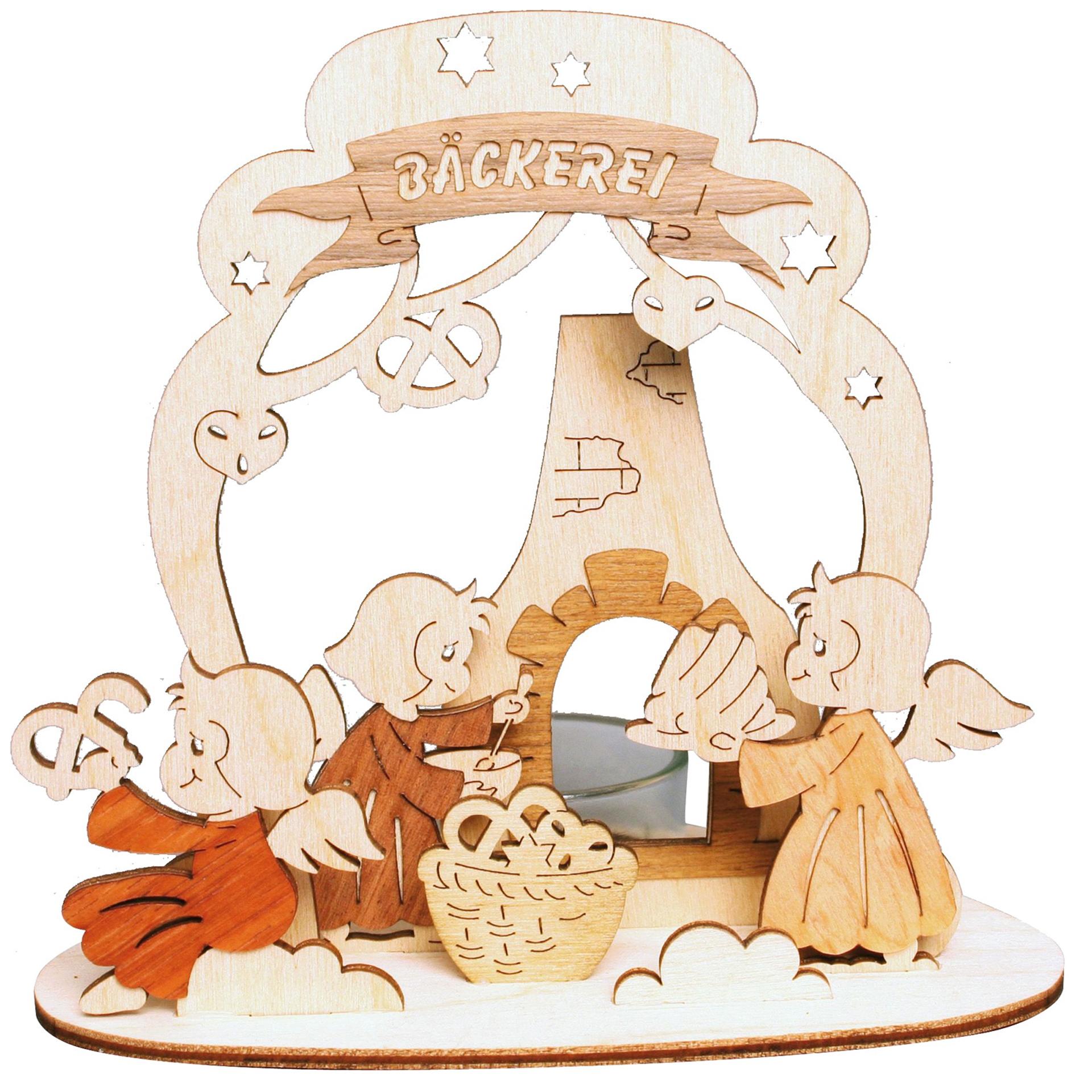 Teelichthalter Engel Bäckerei