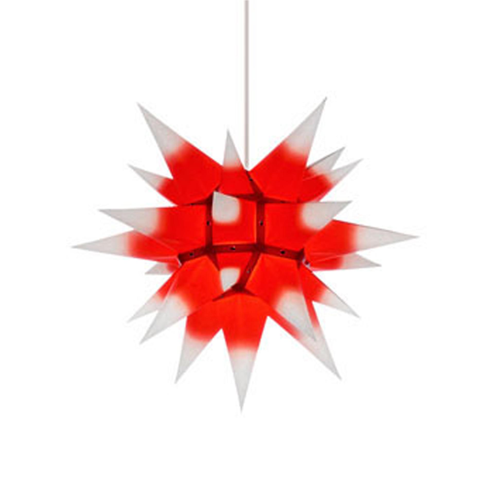 Herrnhuter Innenstern I4, weiß mit rotem Kern