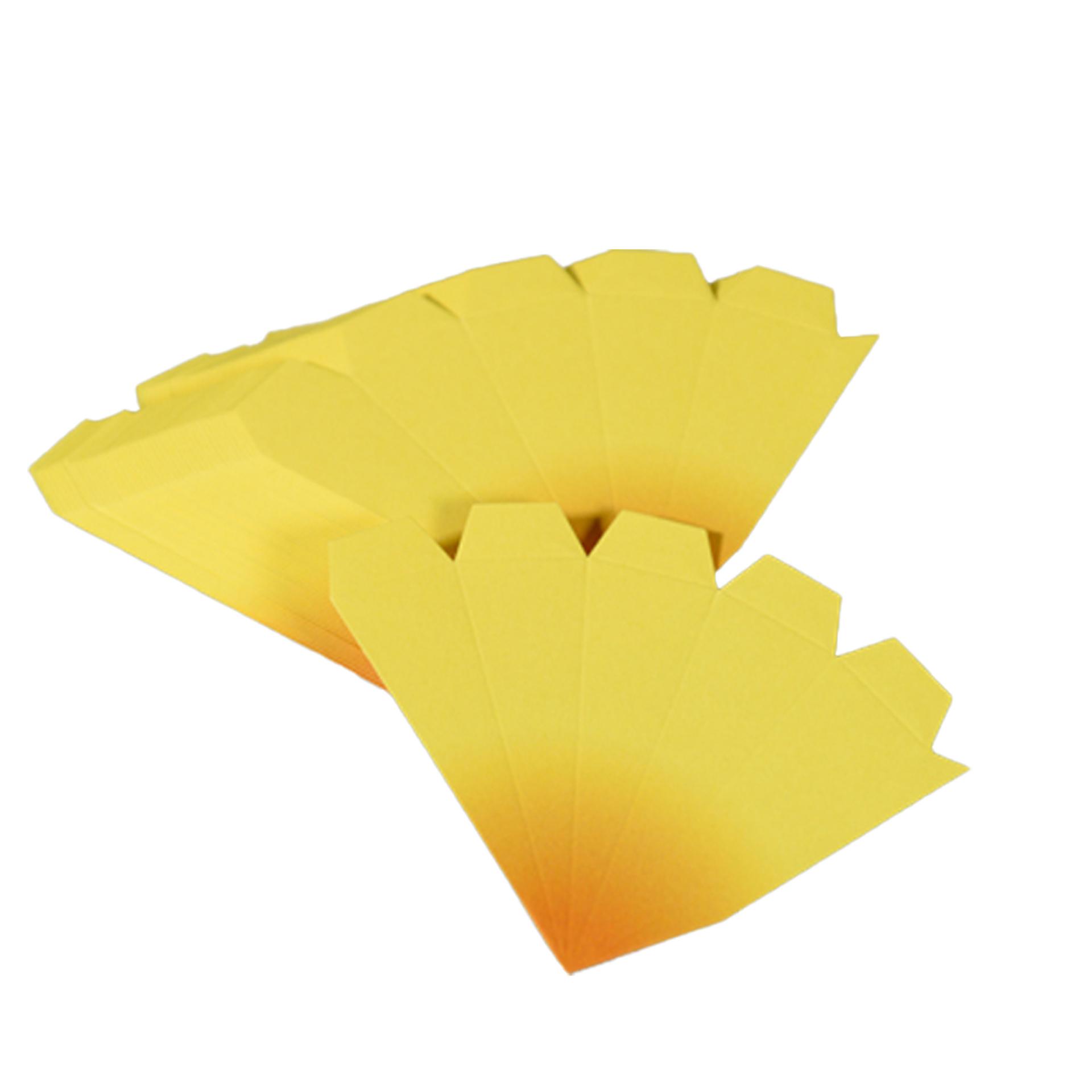Bausatz für Adventssterne, 3er Set gelb mit orangenen Spitzen