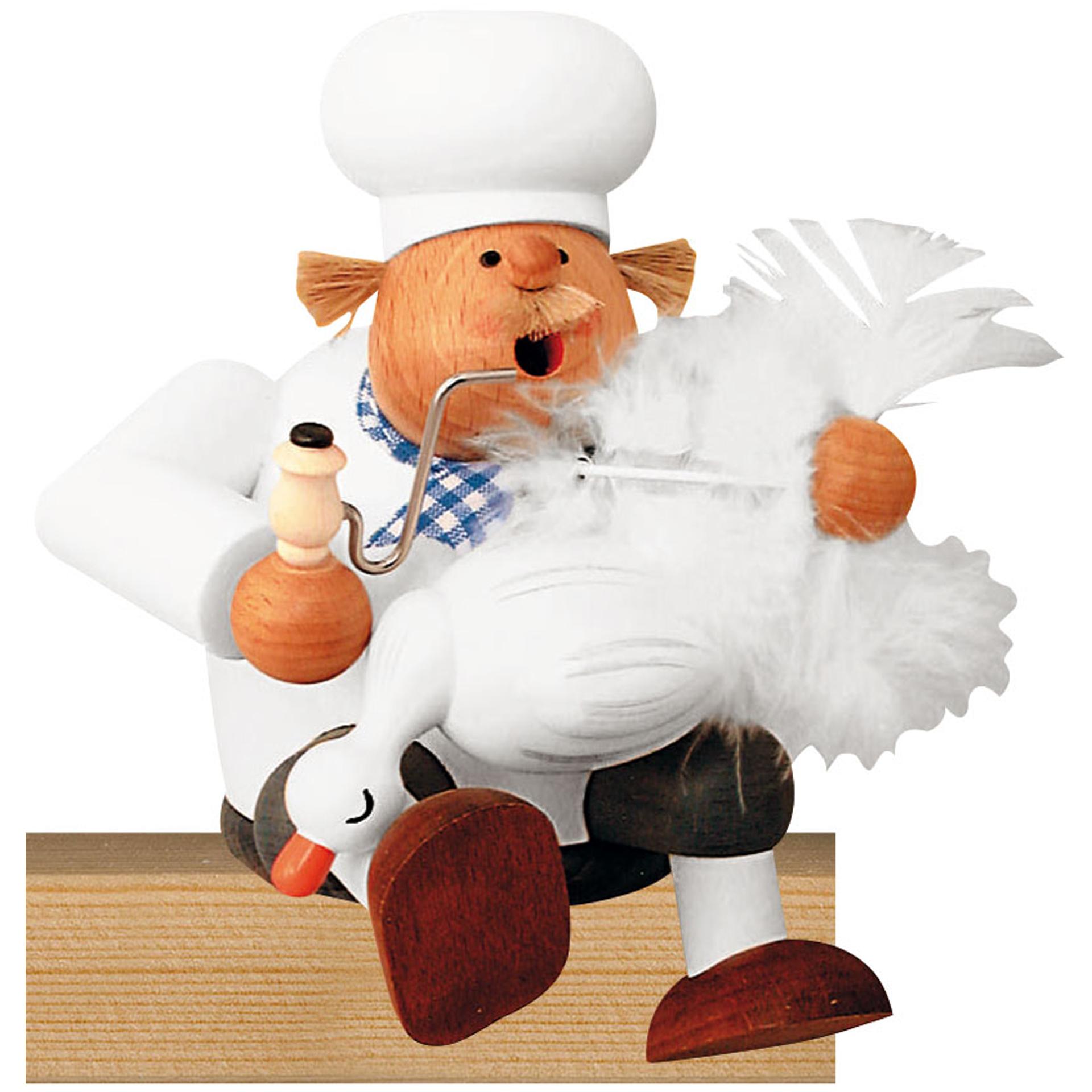 Rauchfigur Koch mit Gans