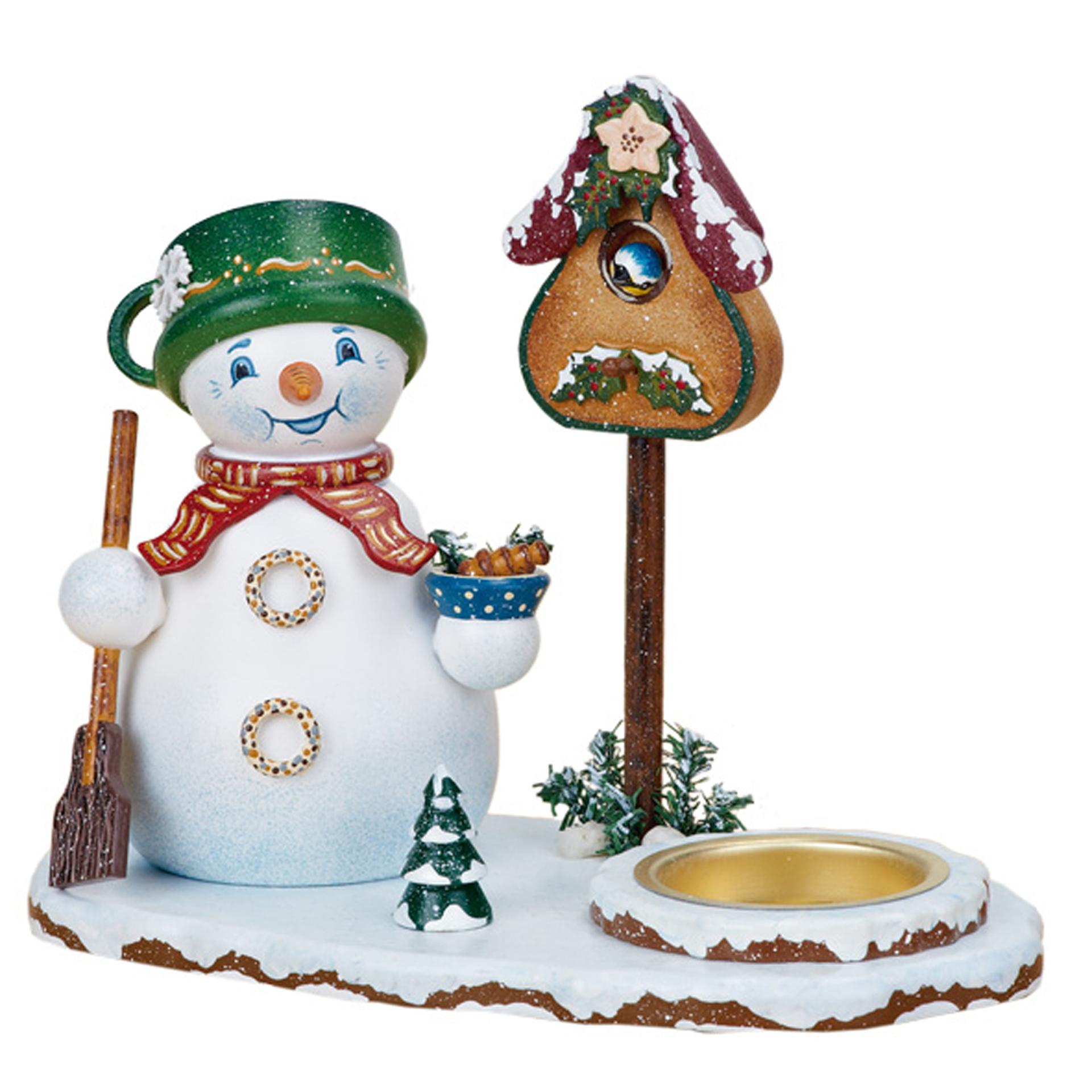 Räucherwichtel Schneemann mit Teelicht