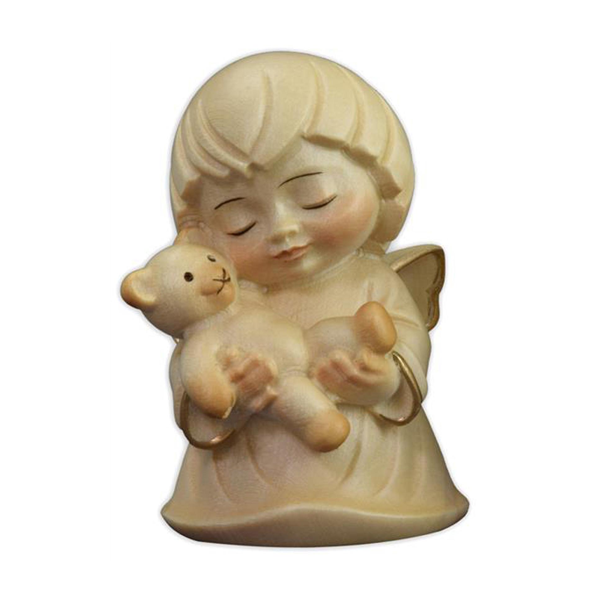 Engel mit Teddy, alabaster