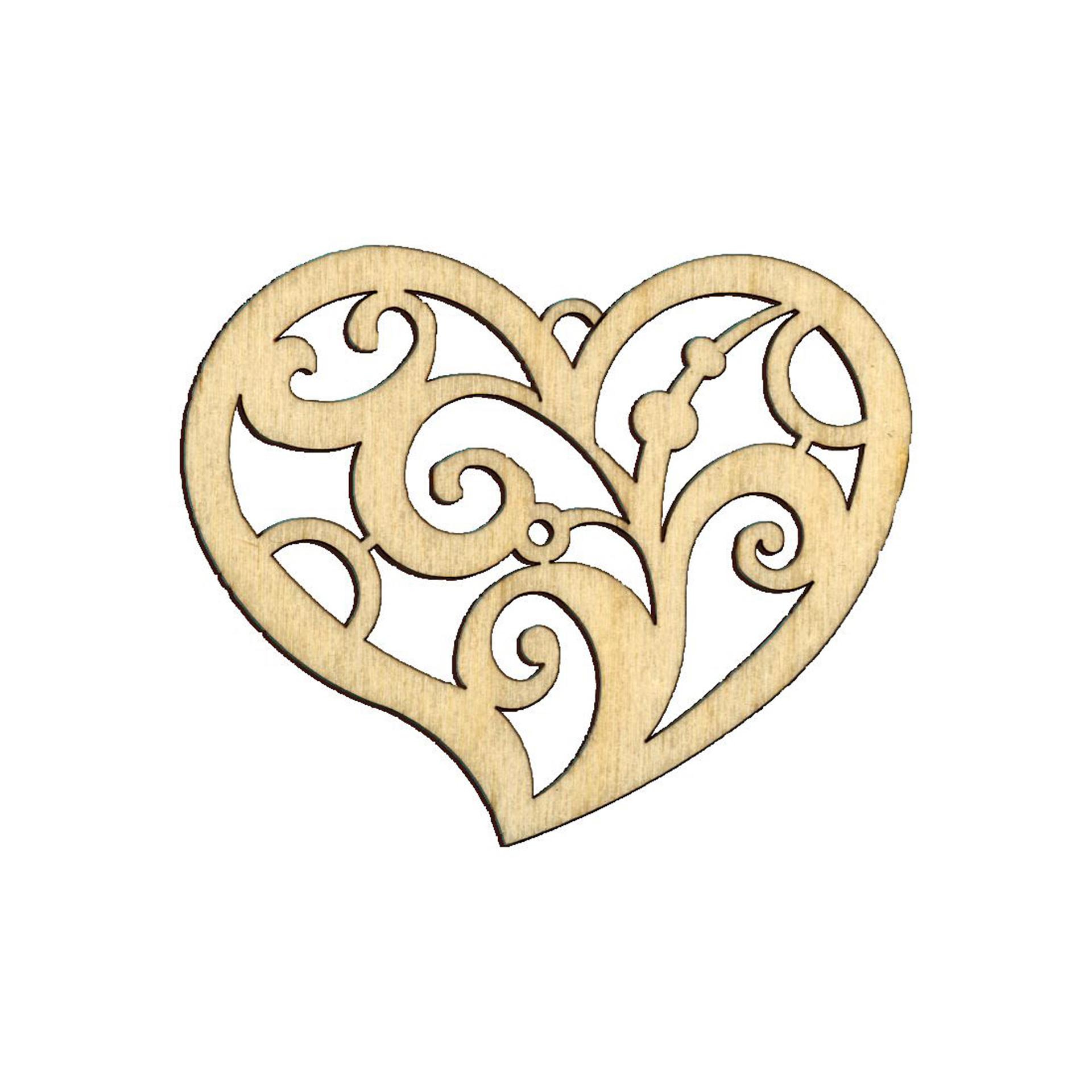 Baumschmuck Herz Paisley natur