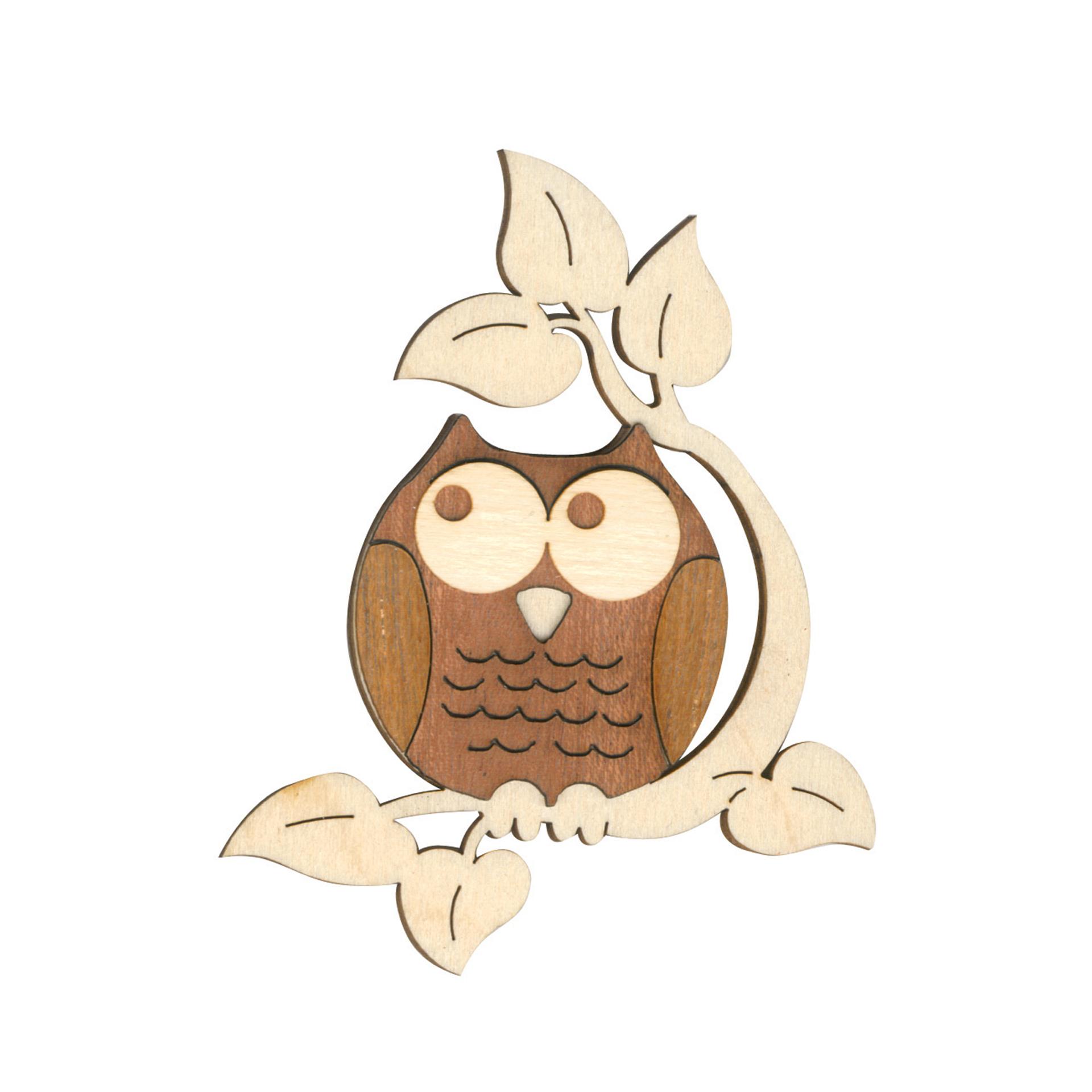 Baumschmuck Eulenmann mit Blättern