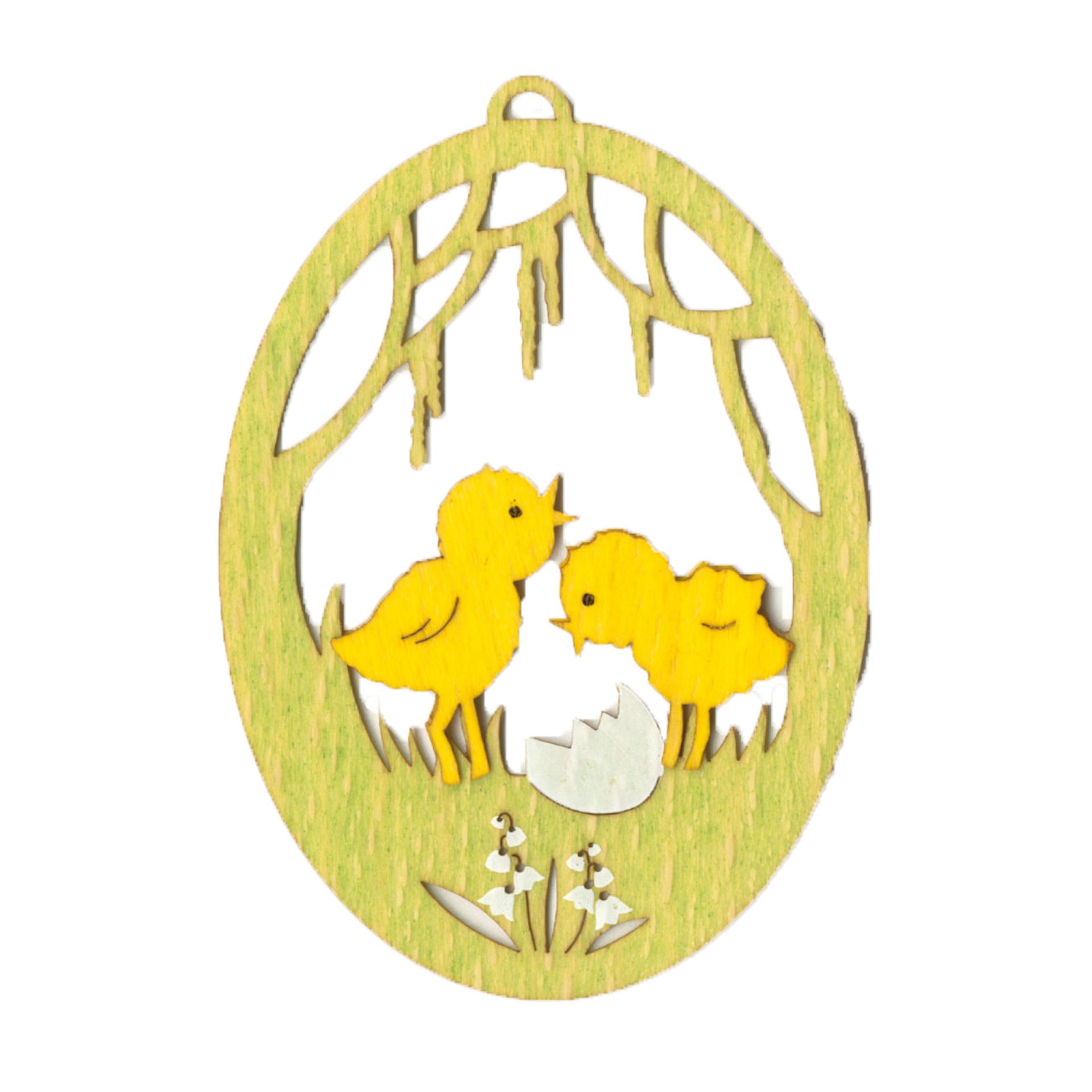 Baumschmuck Ei mit Küken