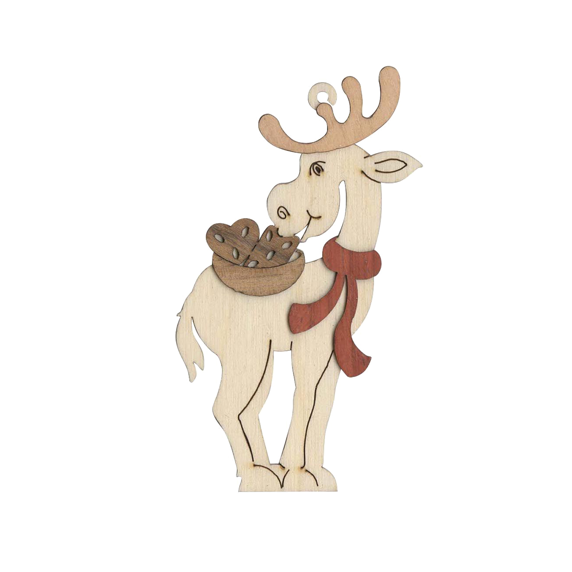 Baumschmuck Elch mit Lebkuchen