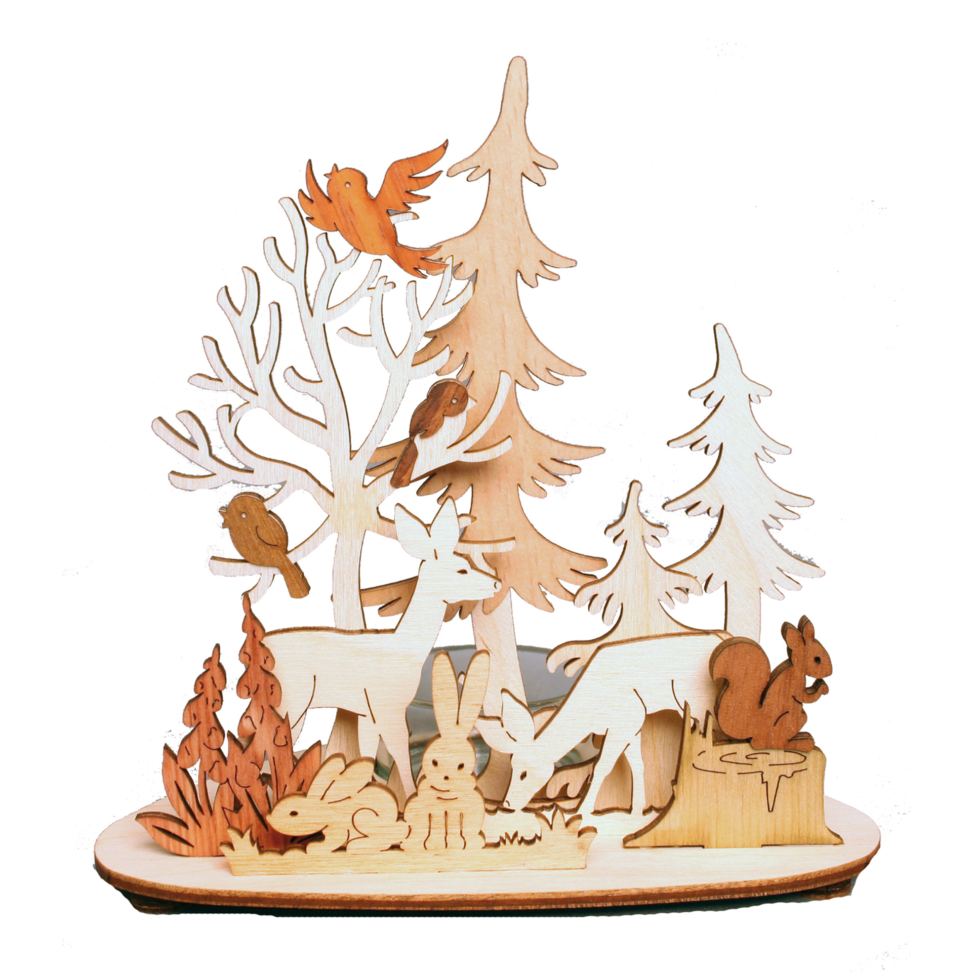 Teelichthalter Wald und Wiese