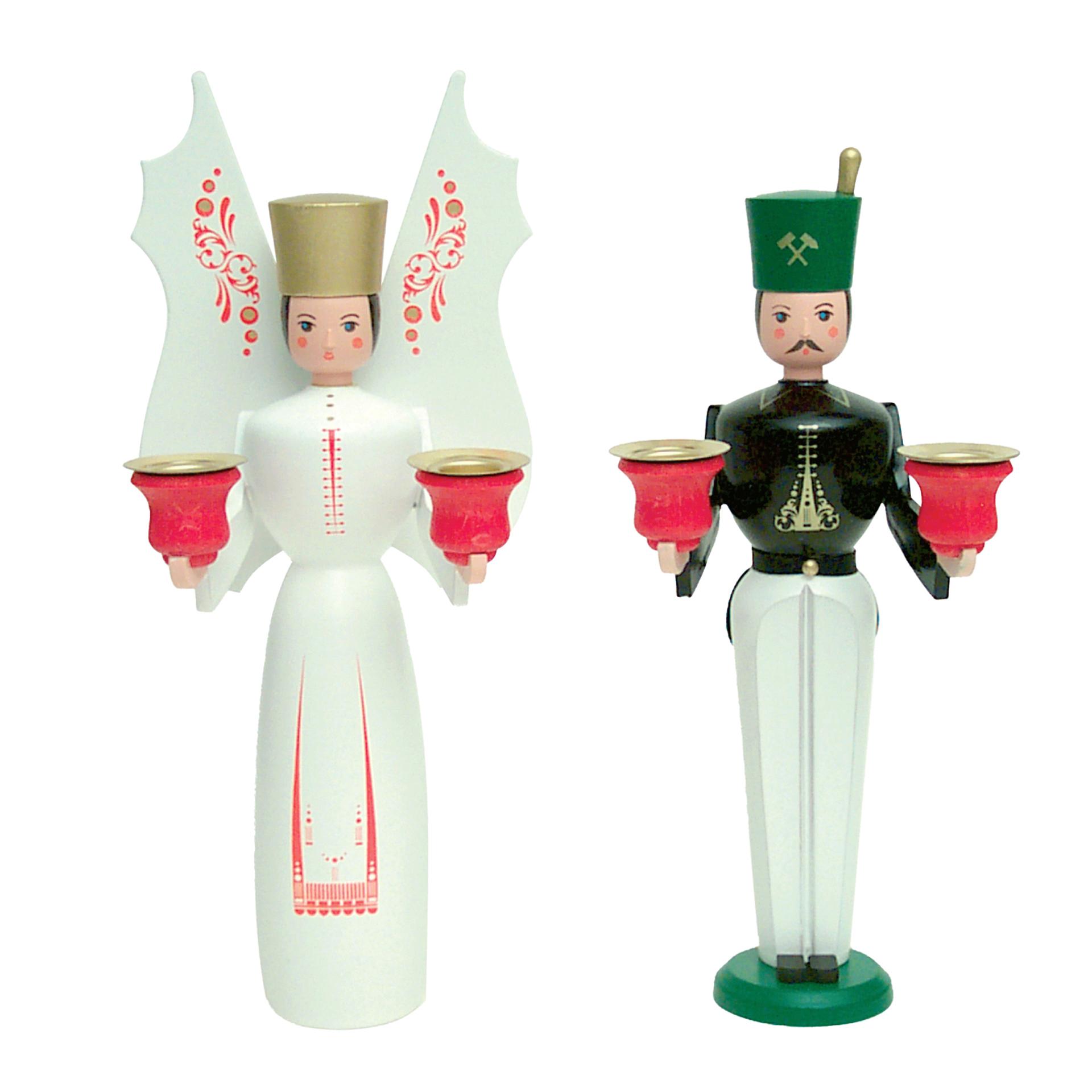 Engel und Bergmann Paar, ca. 22 cm