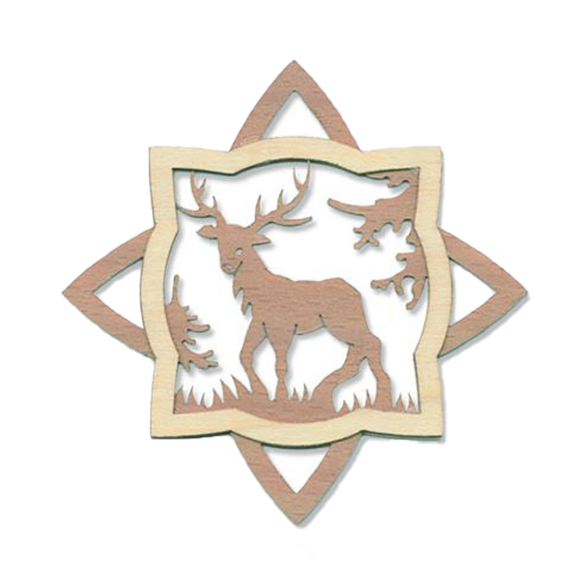 Baumschmuck Wald mit Hirsch