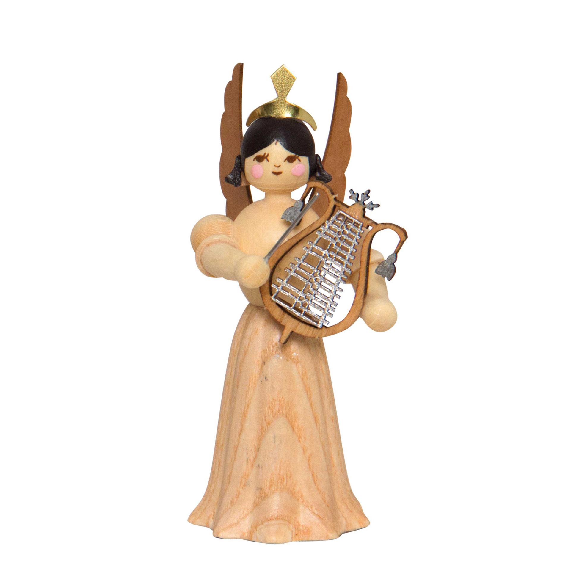 Engel mit großer Lyra, 7cm