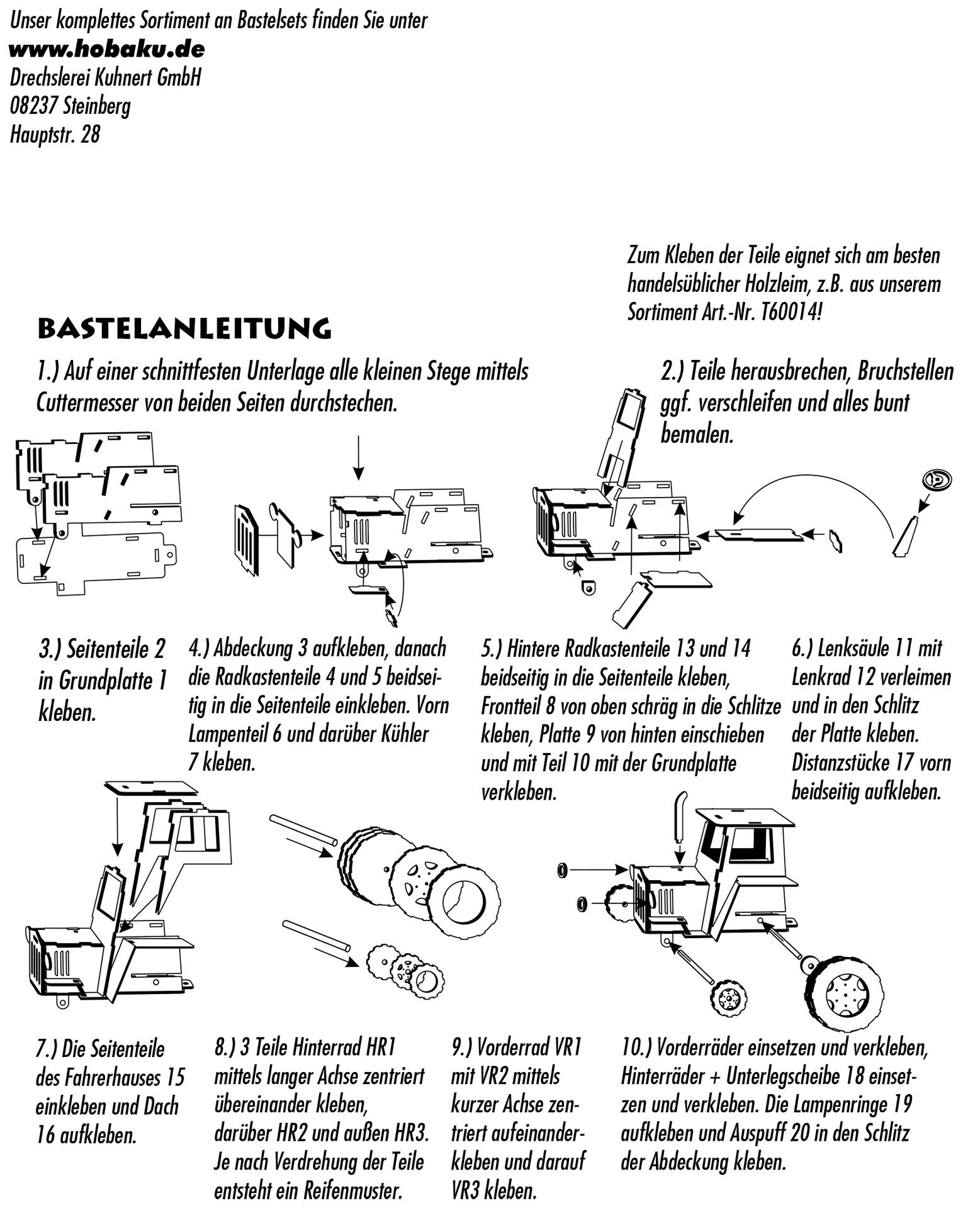 Bastelset Traktor