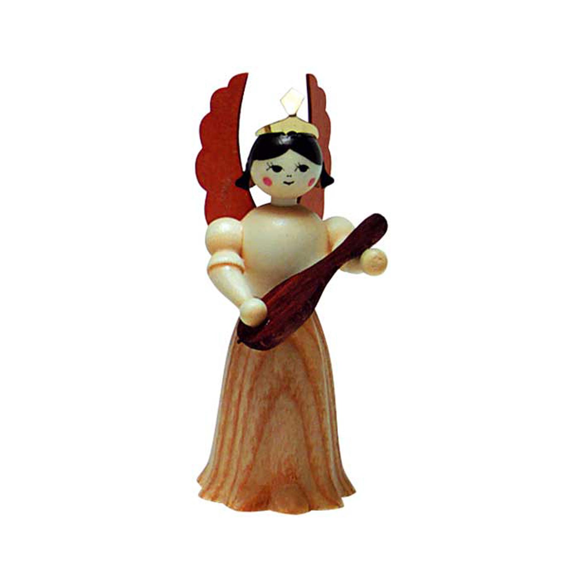 Engel mit Mandoline, 7cm