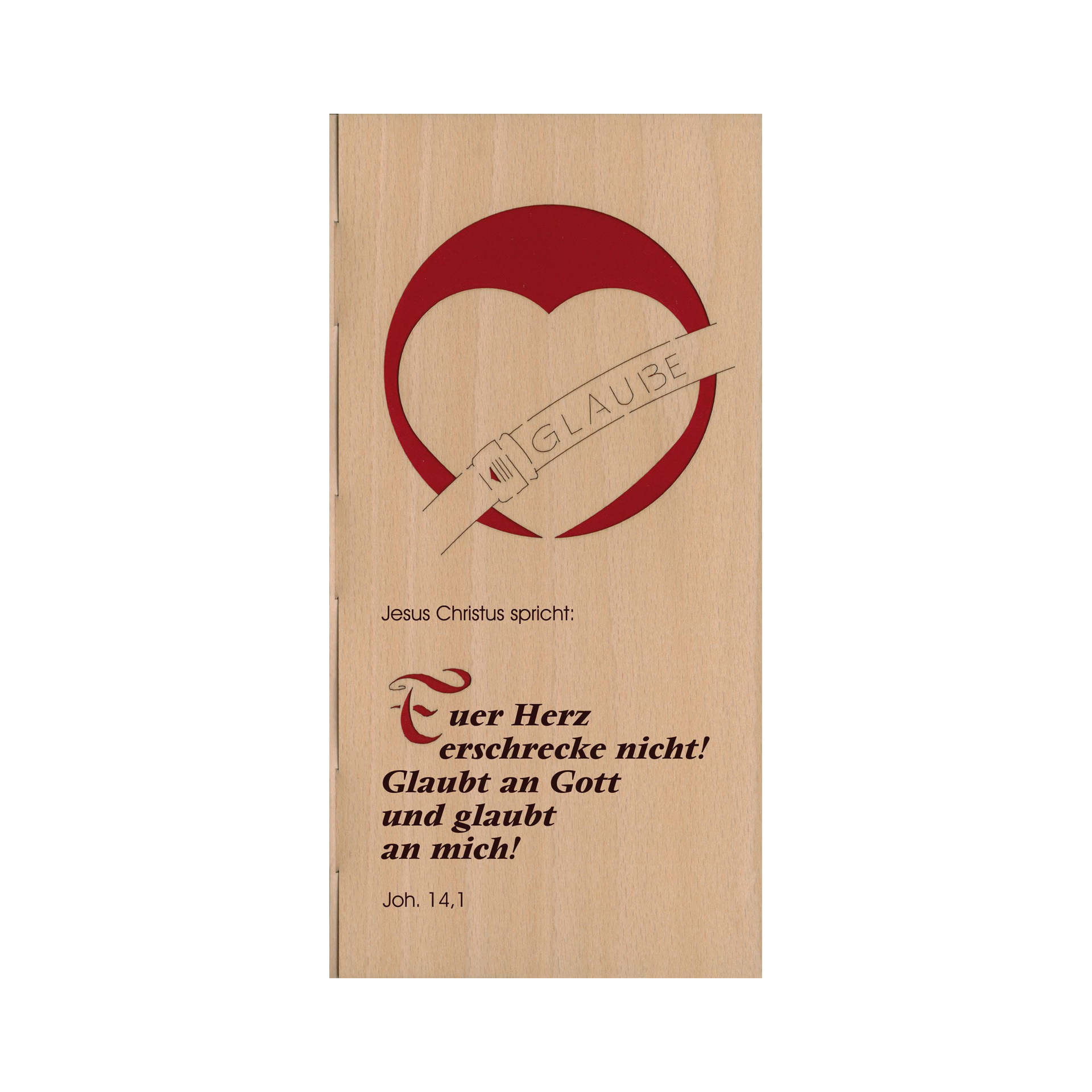 Furnierkarte Jahreslosung 2010, Johannes 14,1 Motiv 2/2