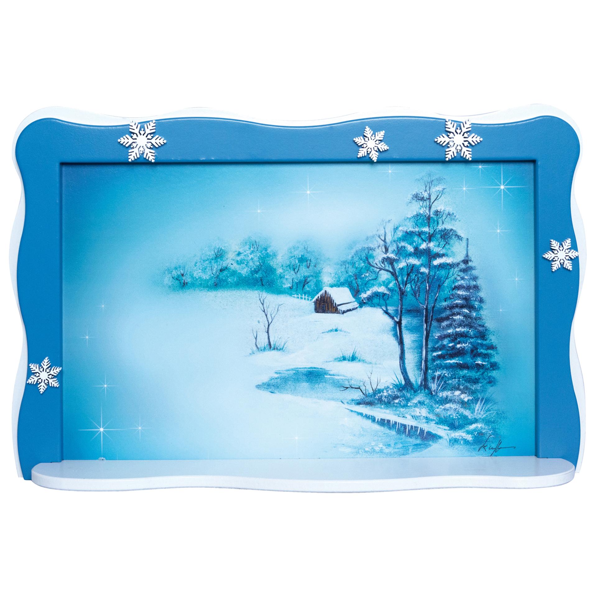Schneeflöckchenbild Winterhütte