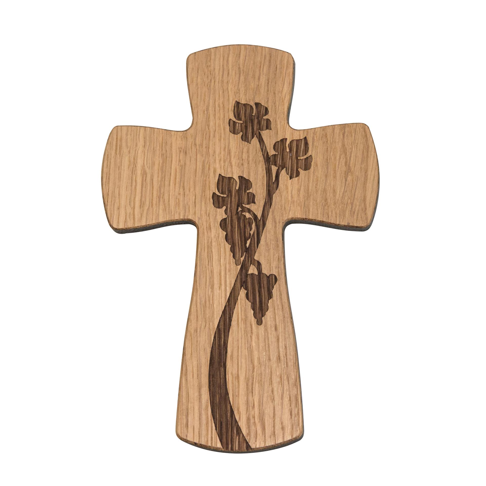 Kreuz mit Weinrebe, Eiche