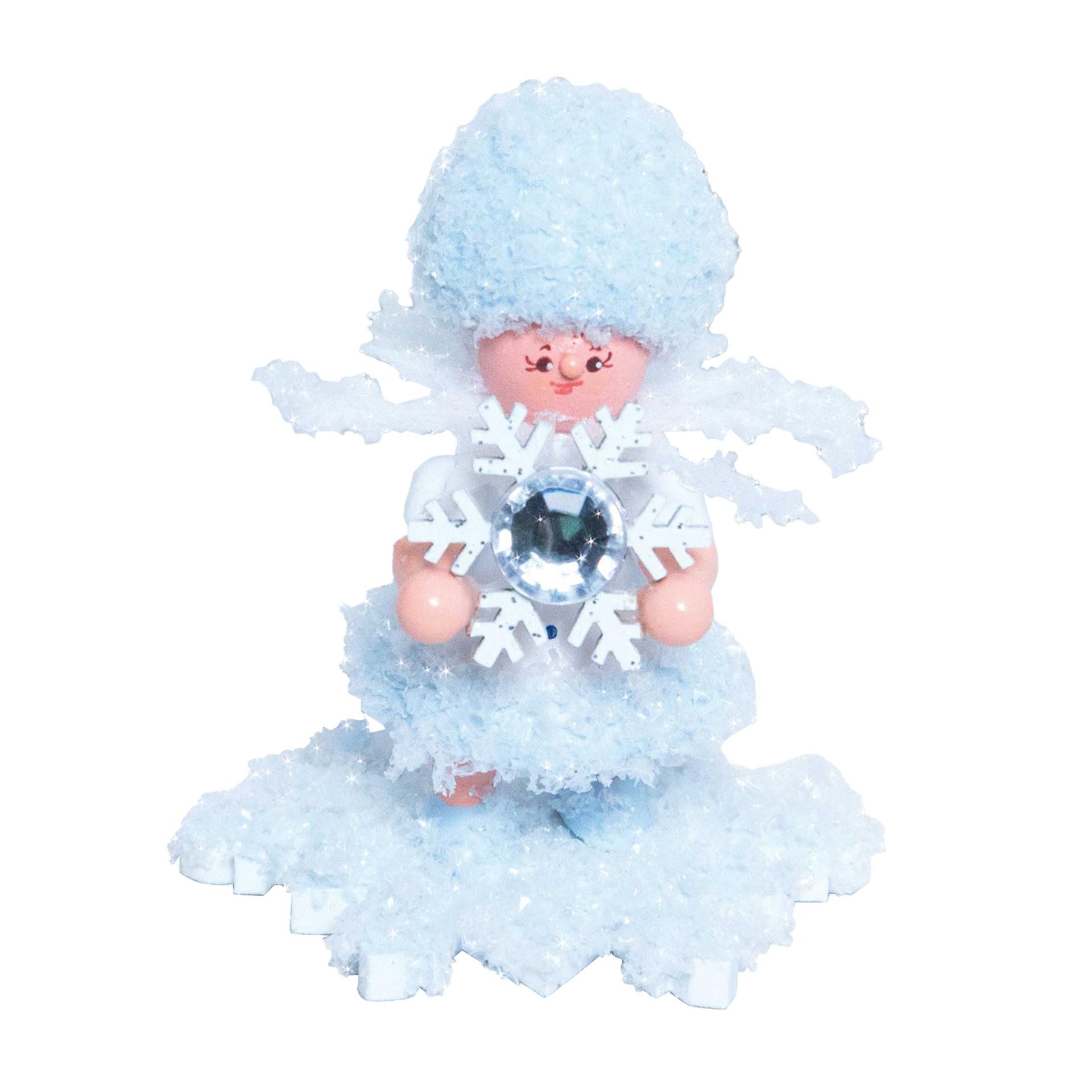 Schneeflöckchen mit Schneekristall