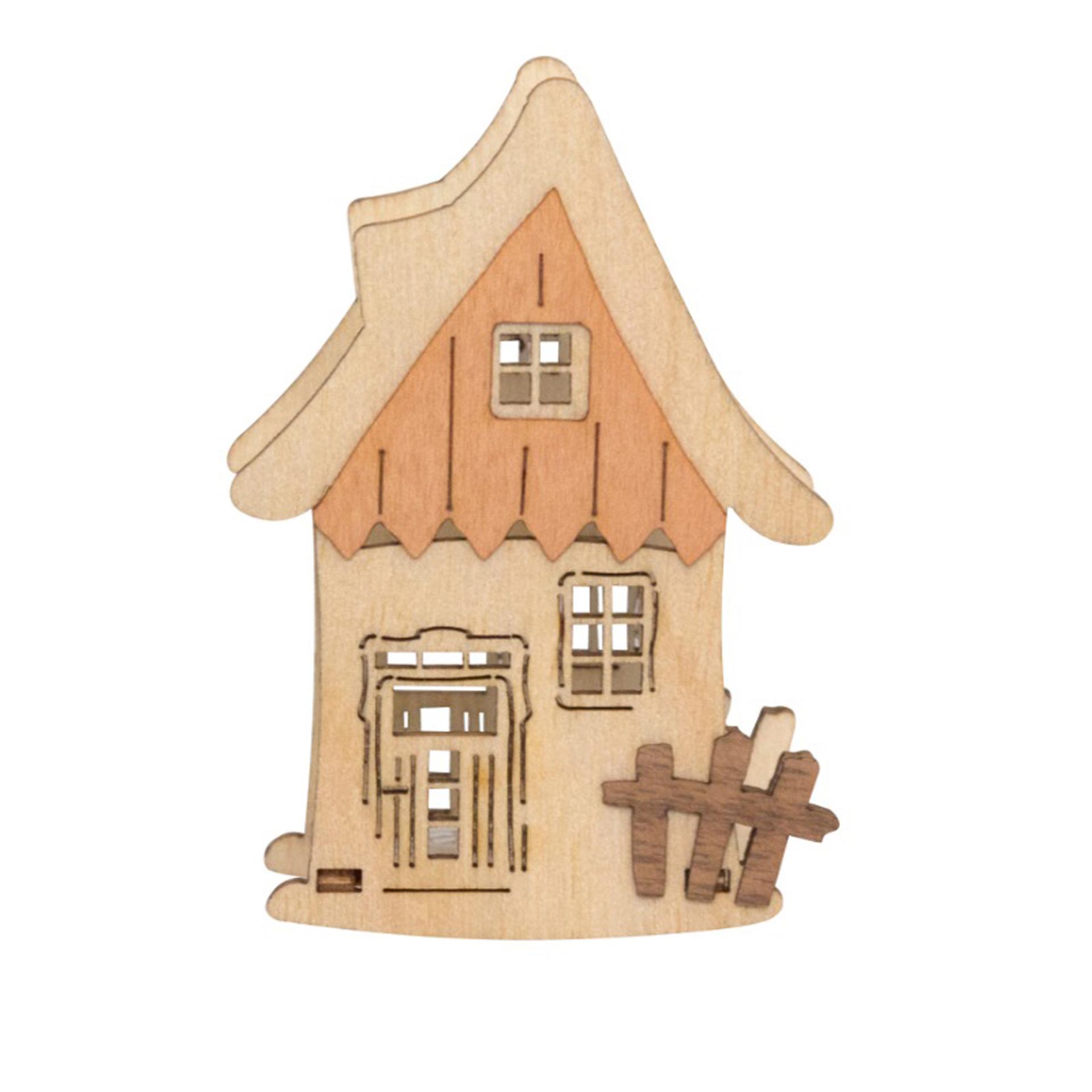 Kerzenaufstecker Haus mit Zaun
