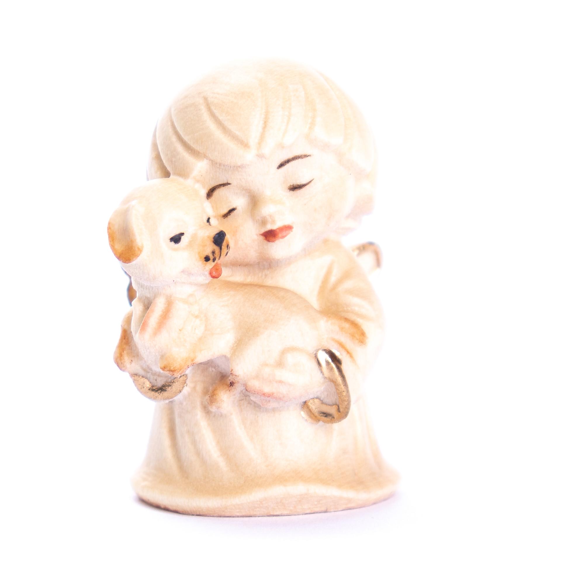 Engel mit Hund, alabaster