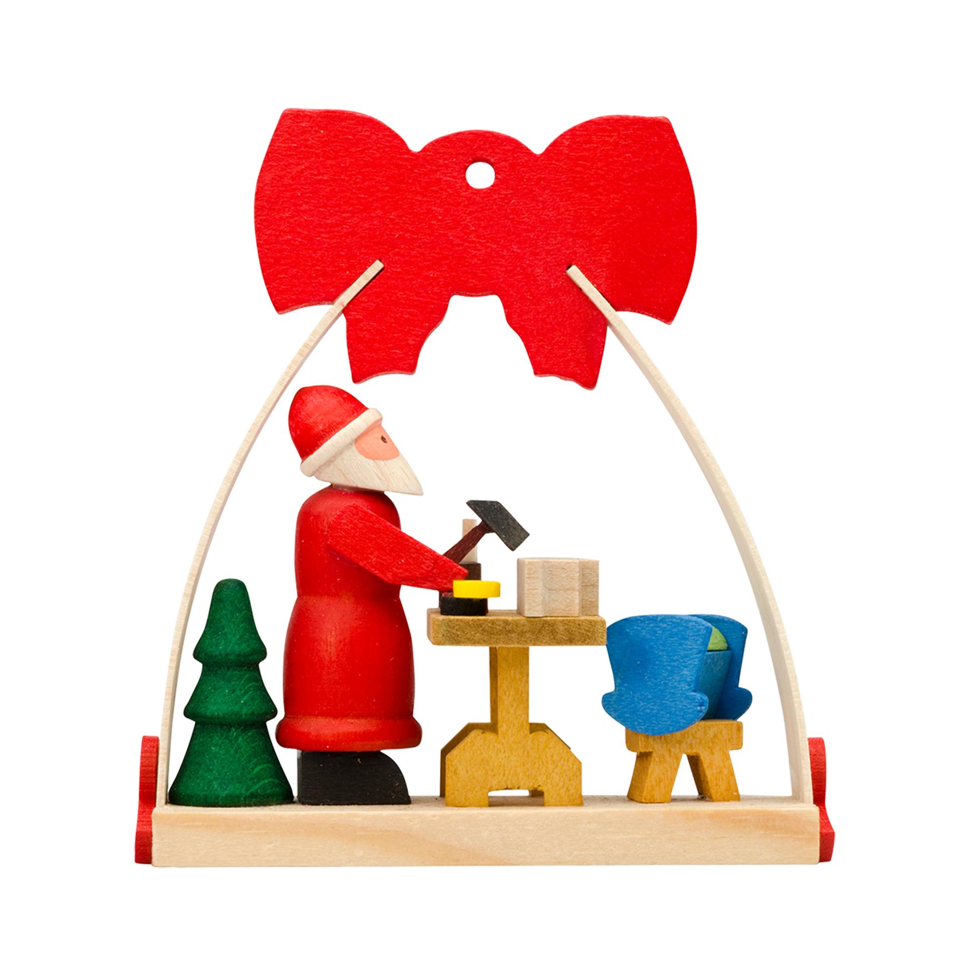 Baumschmuck Weihnachtsmann-Werkstatt