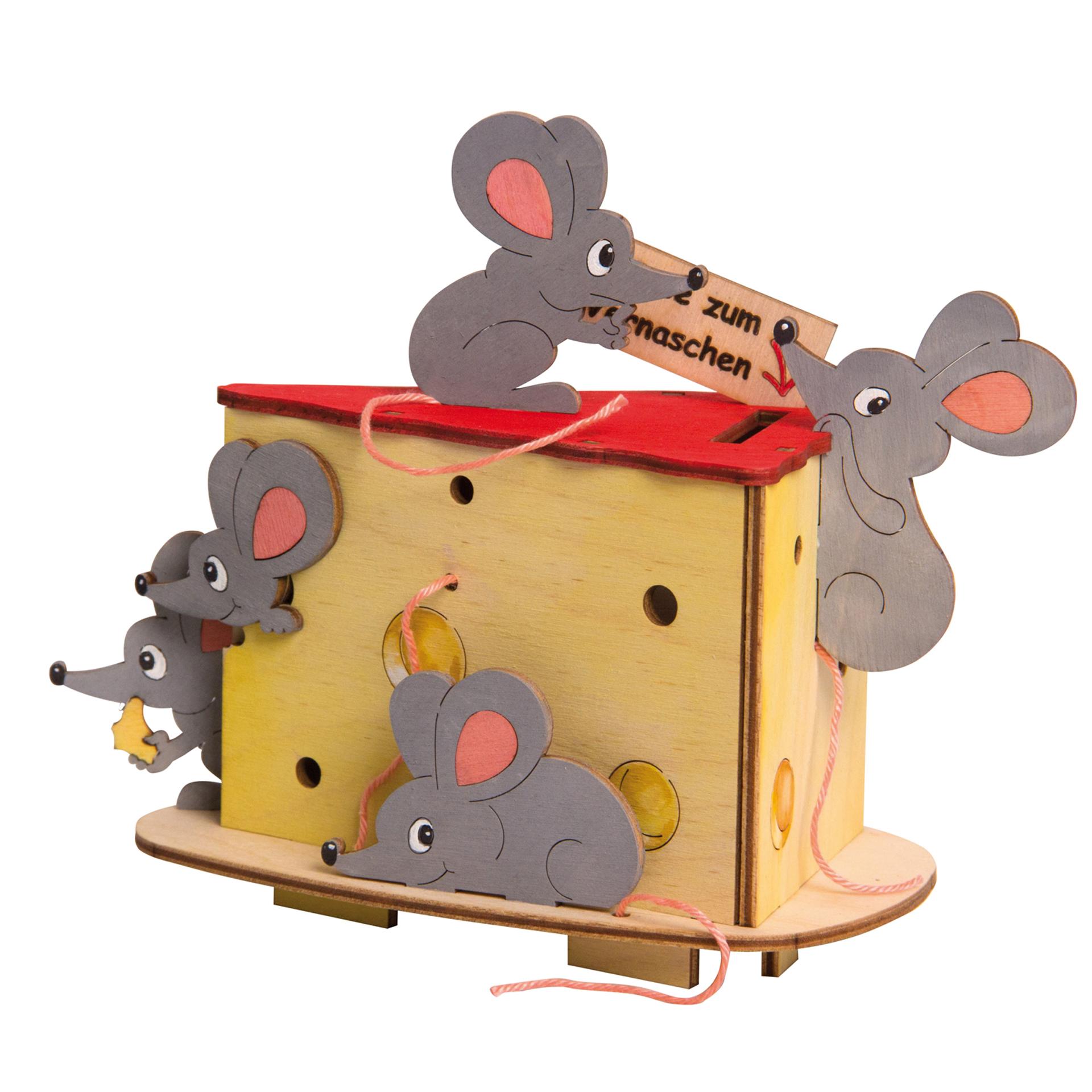Bastelset Spardose Mäuse