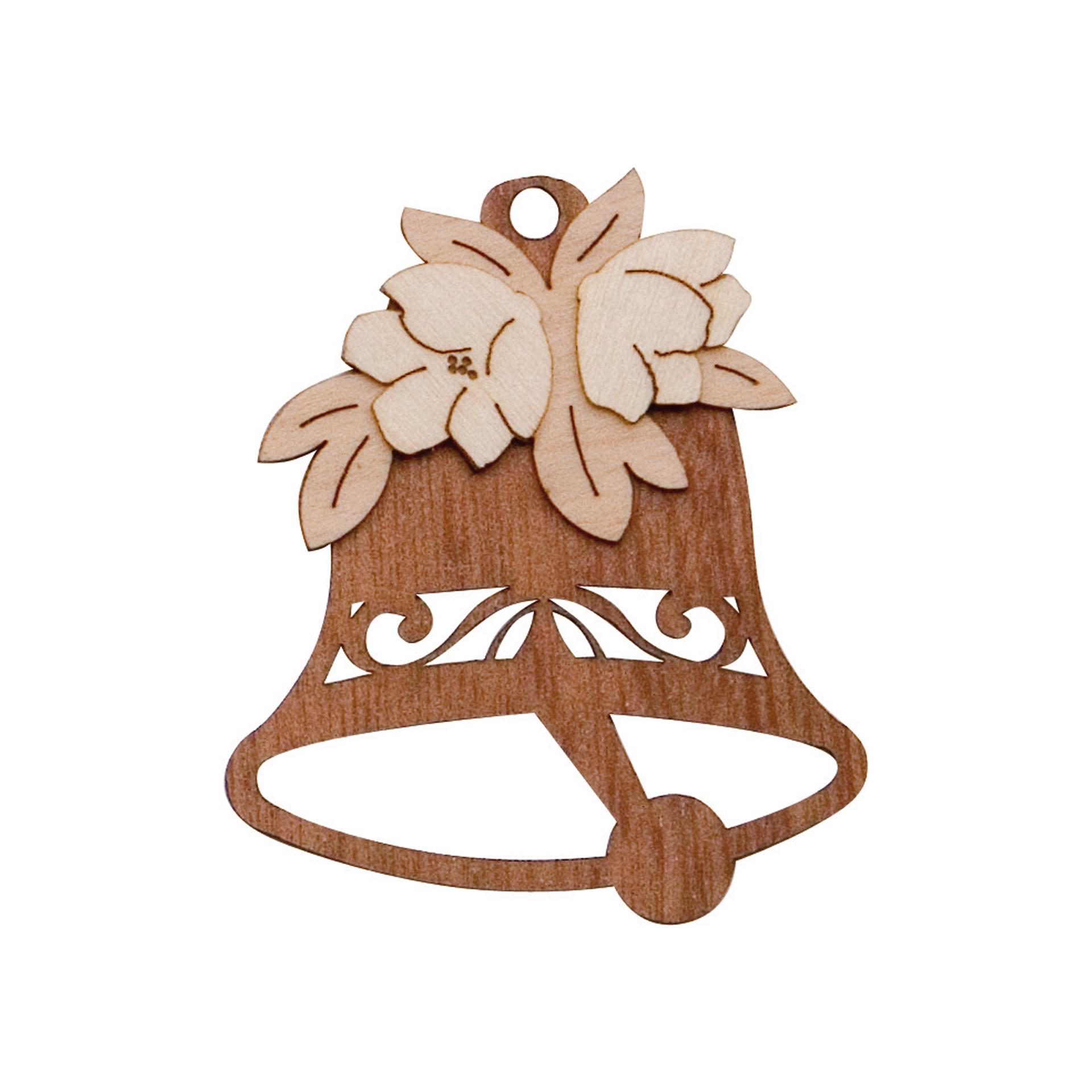 Baumschmuck Glocke mit Christrose
