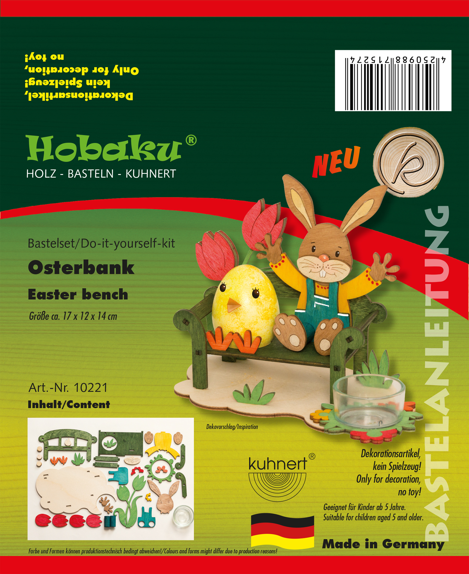 Bastelset Osterbank mit Hase