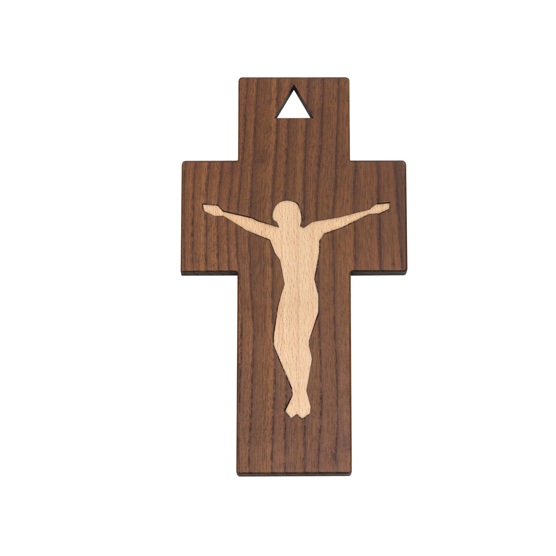 Kreuz Intarsie Corpus Christi, Thermoesche/Buche